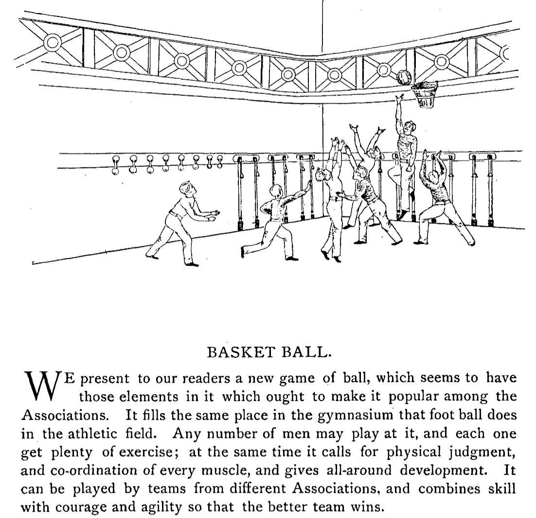 The first rules of basketball published in Triangle Magazine