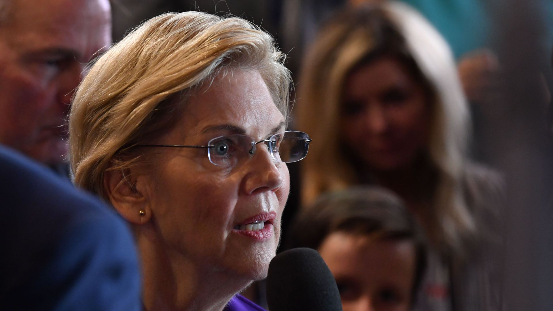 Sen. Elizabeth Warren after the fourth Democratic debate