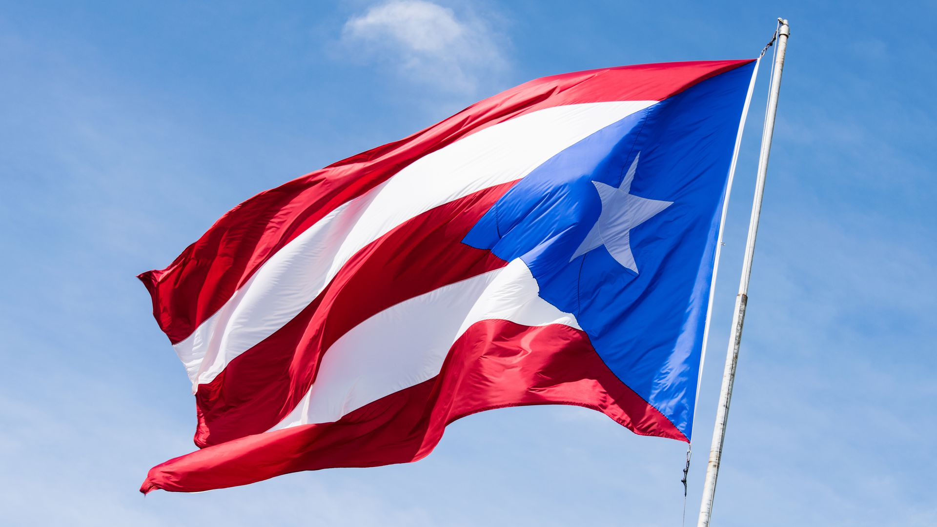 The flag of Puerto Rico, a U.S. territory.