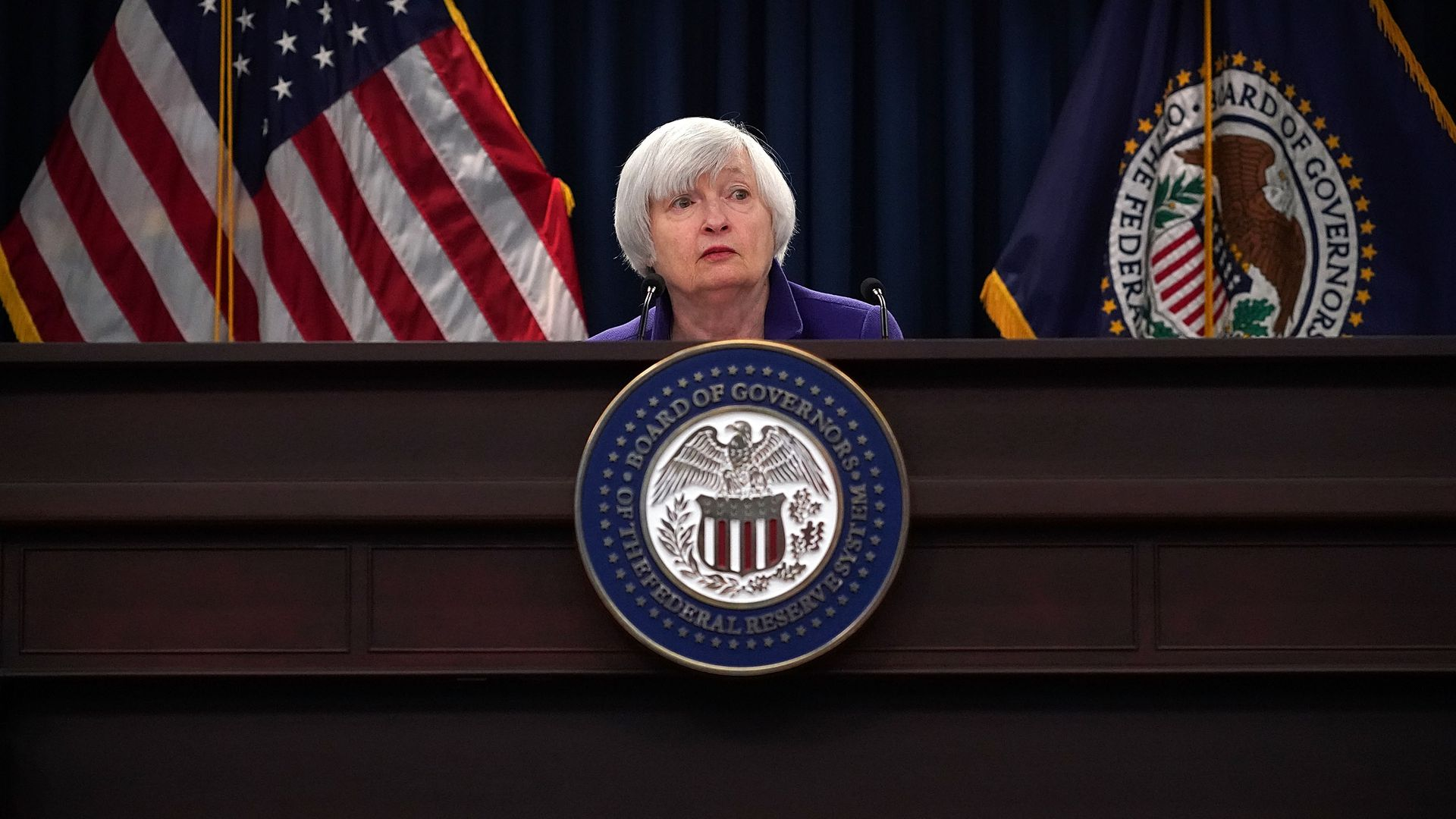 Federal Reserve Chair Janet Yellen speaks during her last news conference in office December 13, 2017 in Washington, DC.