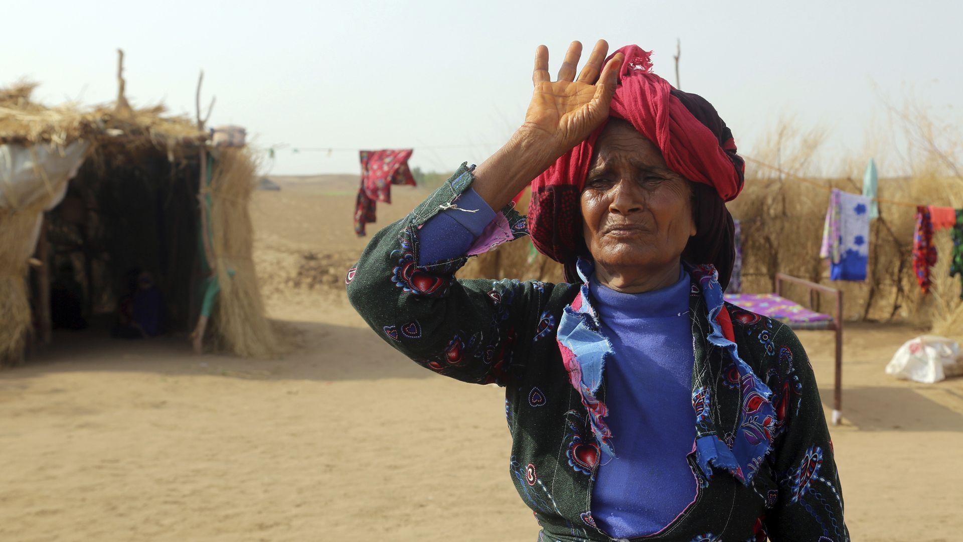 A displaced Yemeni woman.