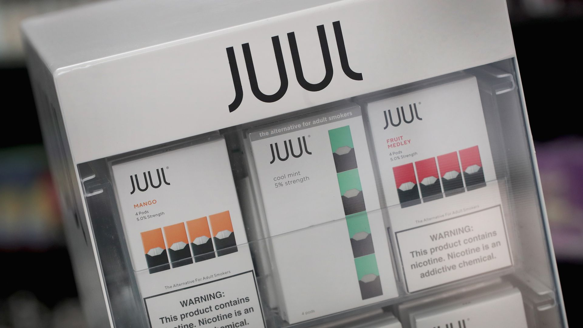 Juul vaping pods being sold