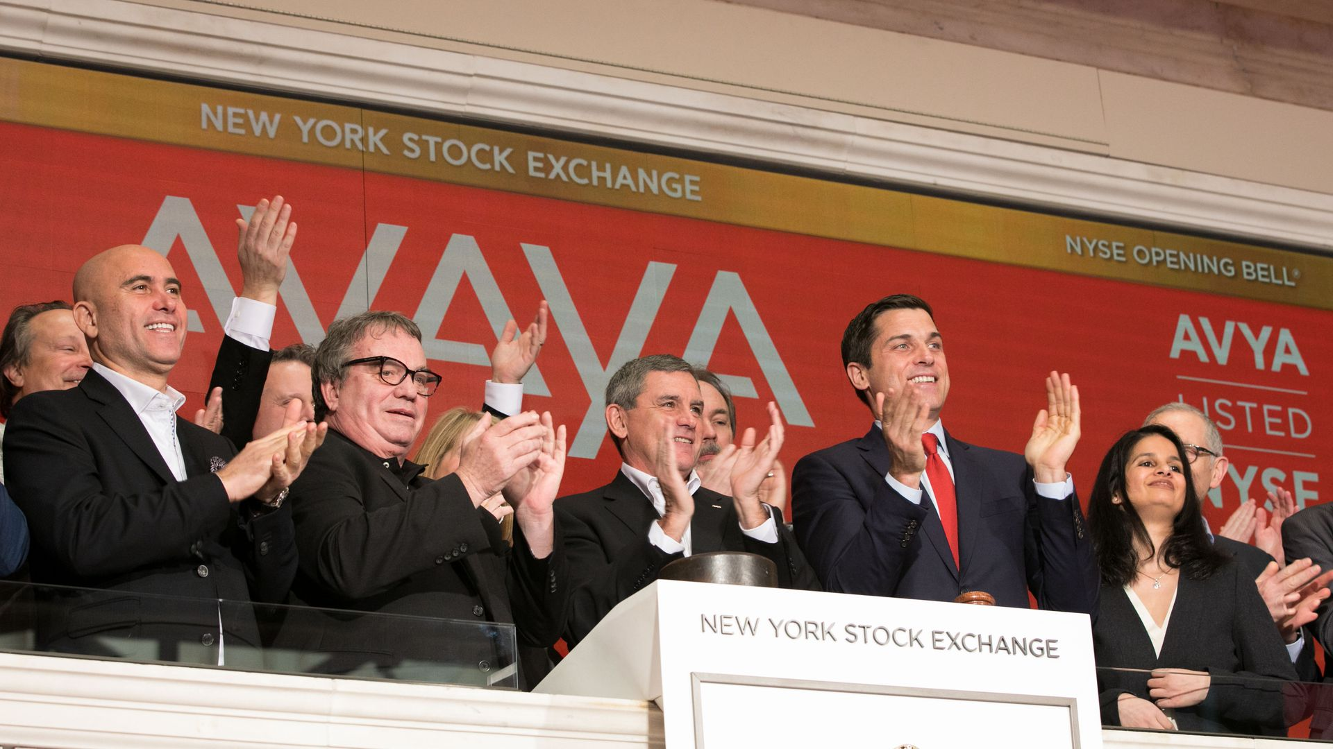 Avaya at the NYSE opening bell ceremony