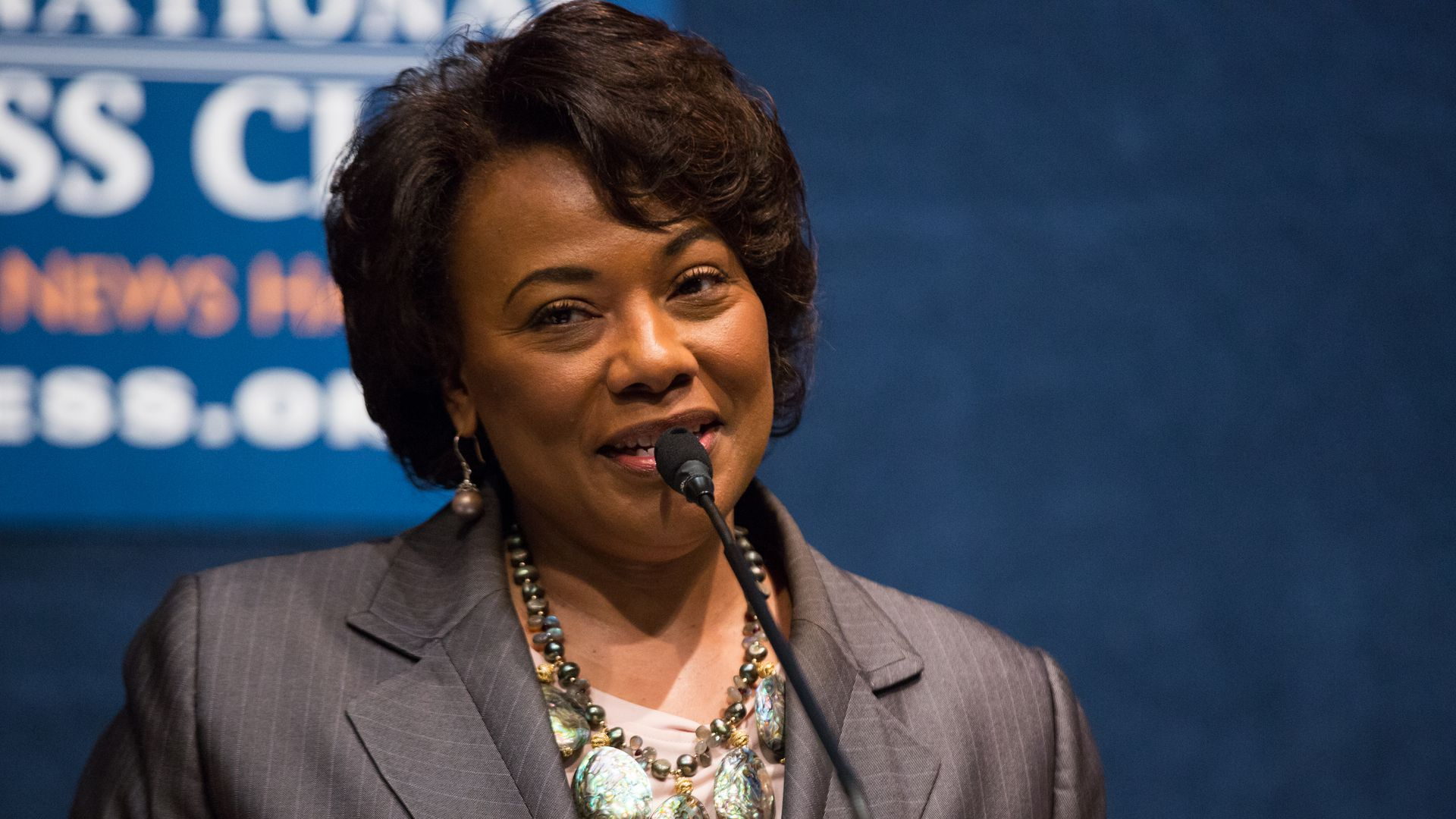 Rev. Bernice King gives a speech at the National Press Club