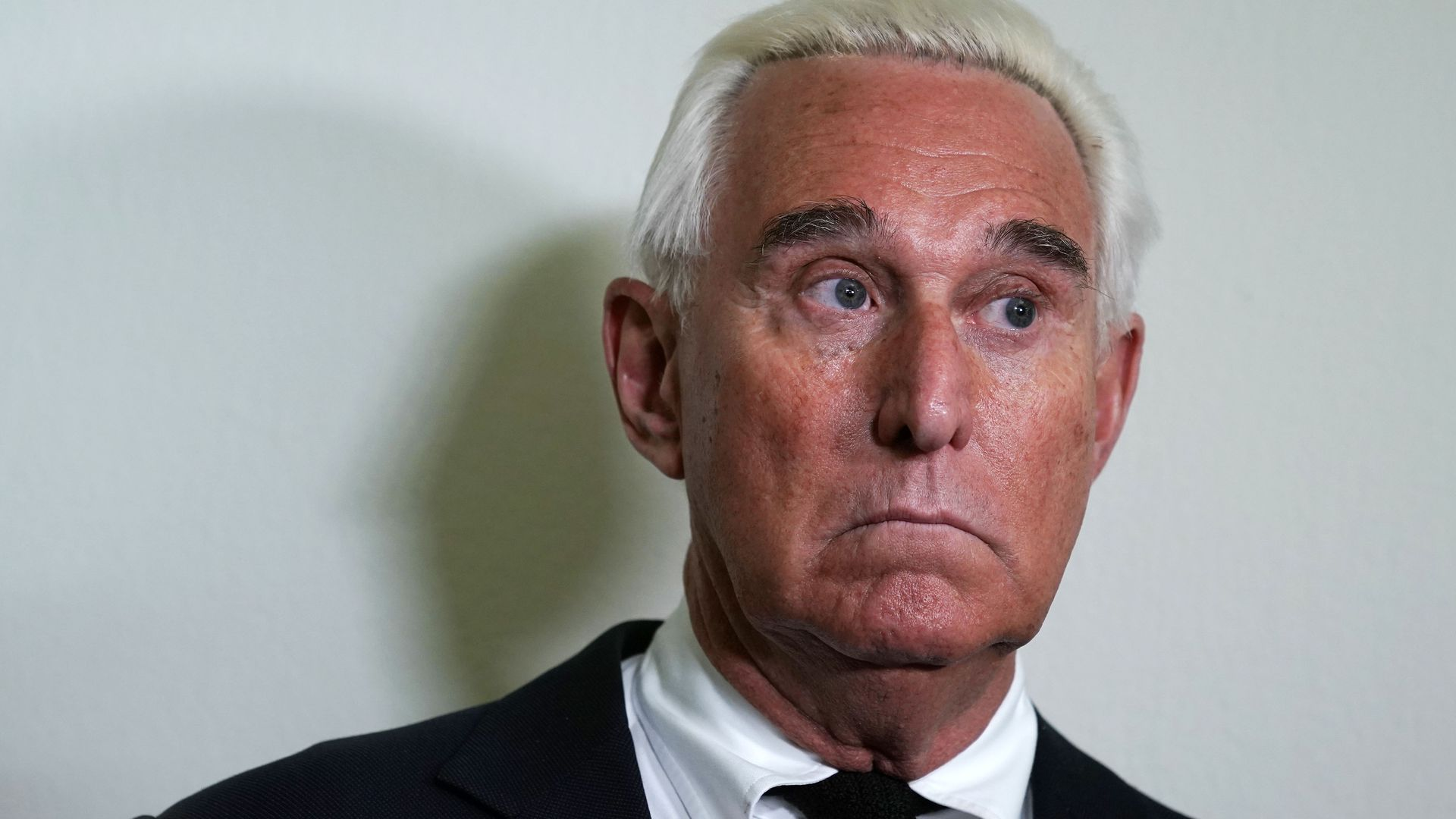 Roger Stone looking worried