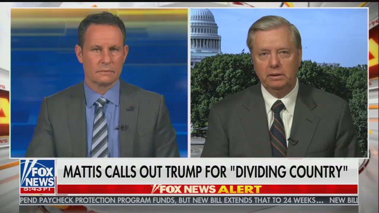 """Lindsey Graham on Mattis' Trump criticism: """"You're missing something here, my friend"""""""