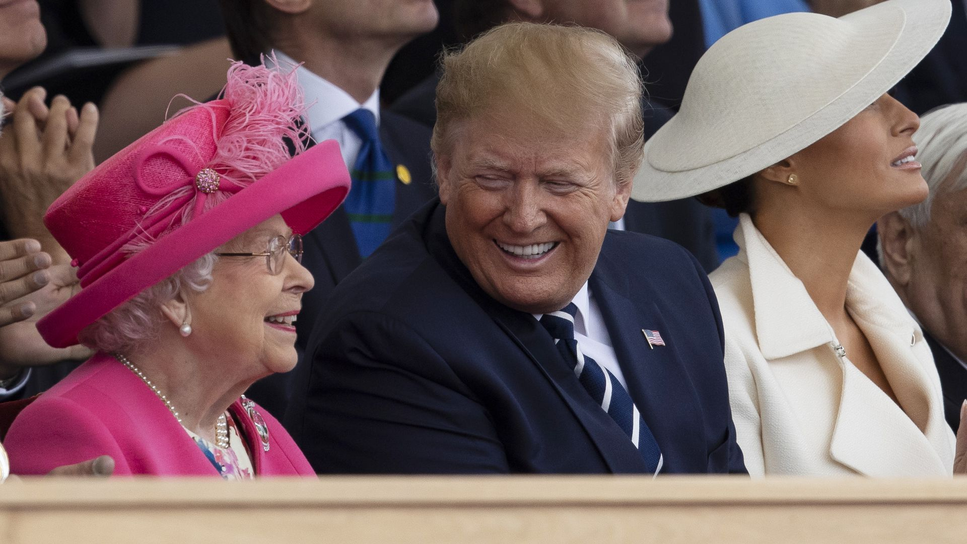 President Trump with the Queen of England