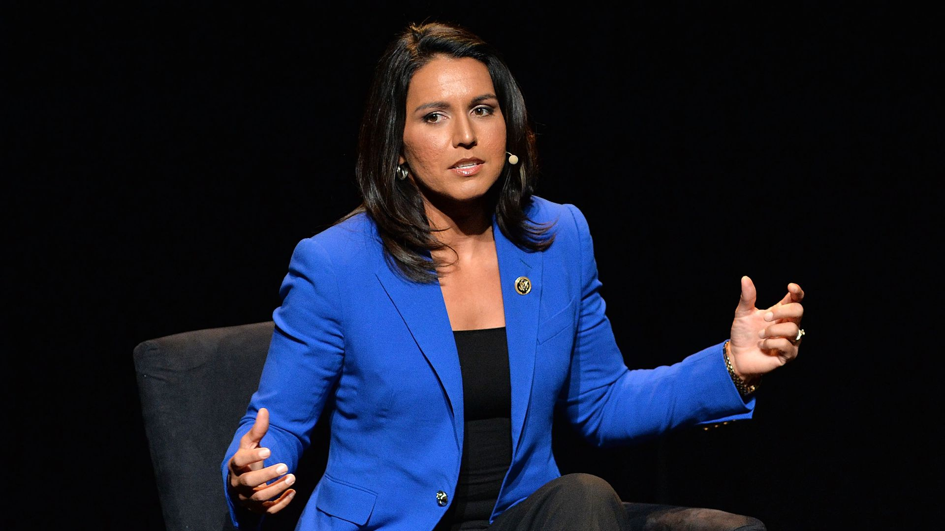 Tulsi Gabbard says evidence is needed before she can comment on whether Syria's president is a war criminal.