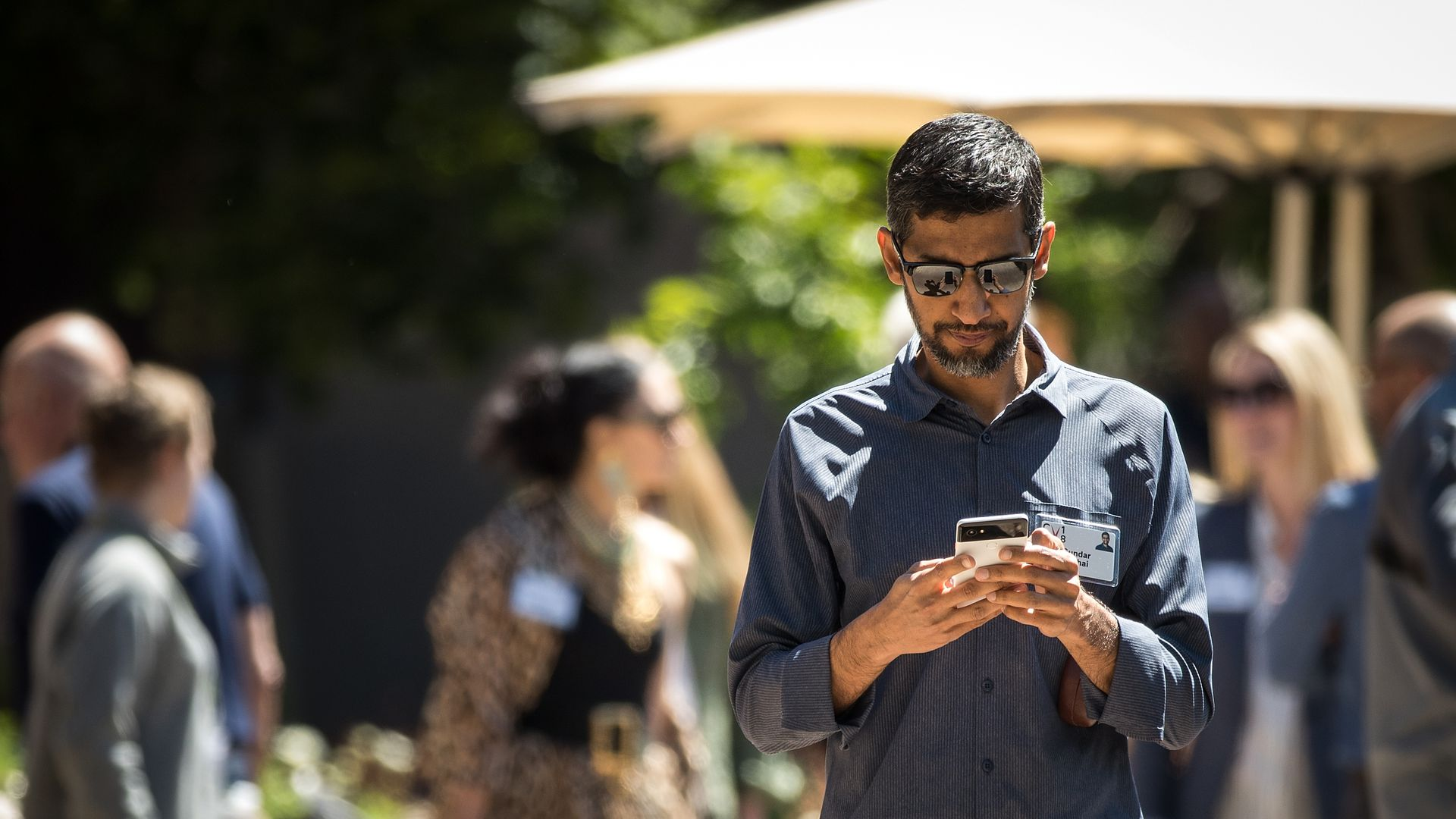 This is the CEO of Google on his phone