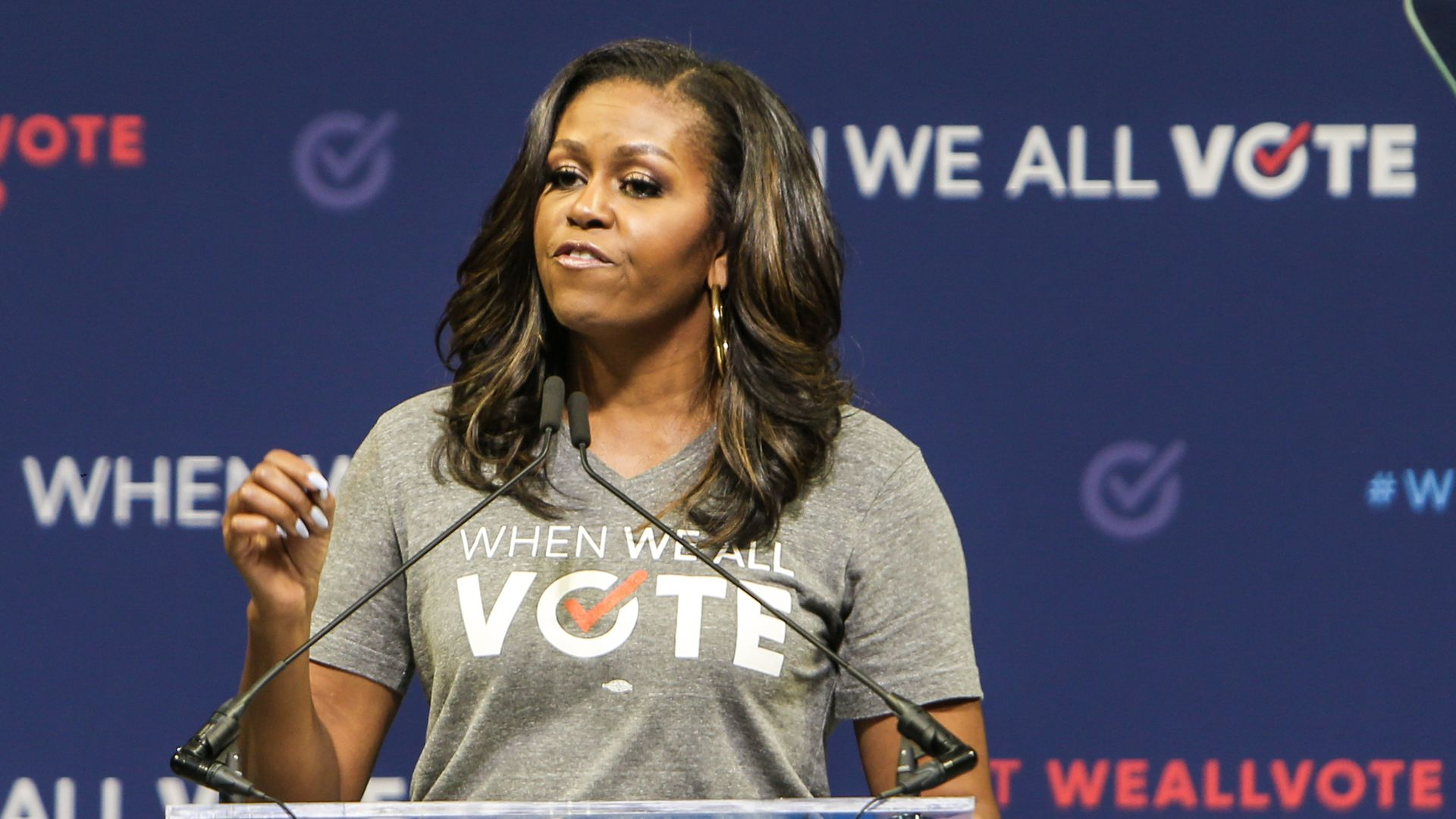 "Michelle Obama challenges Eric Holder on ""kick them"""