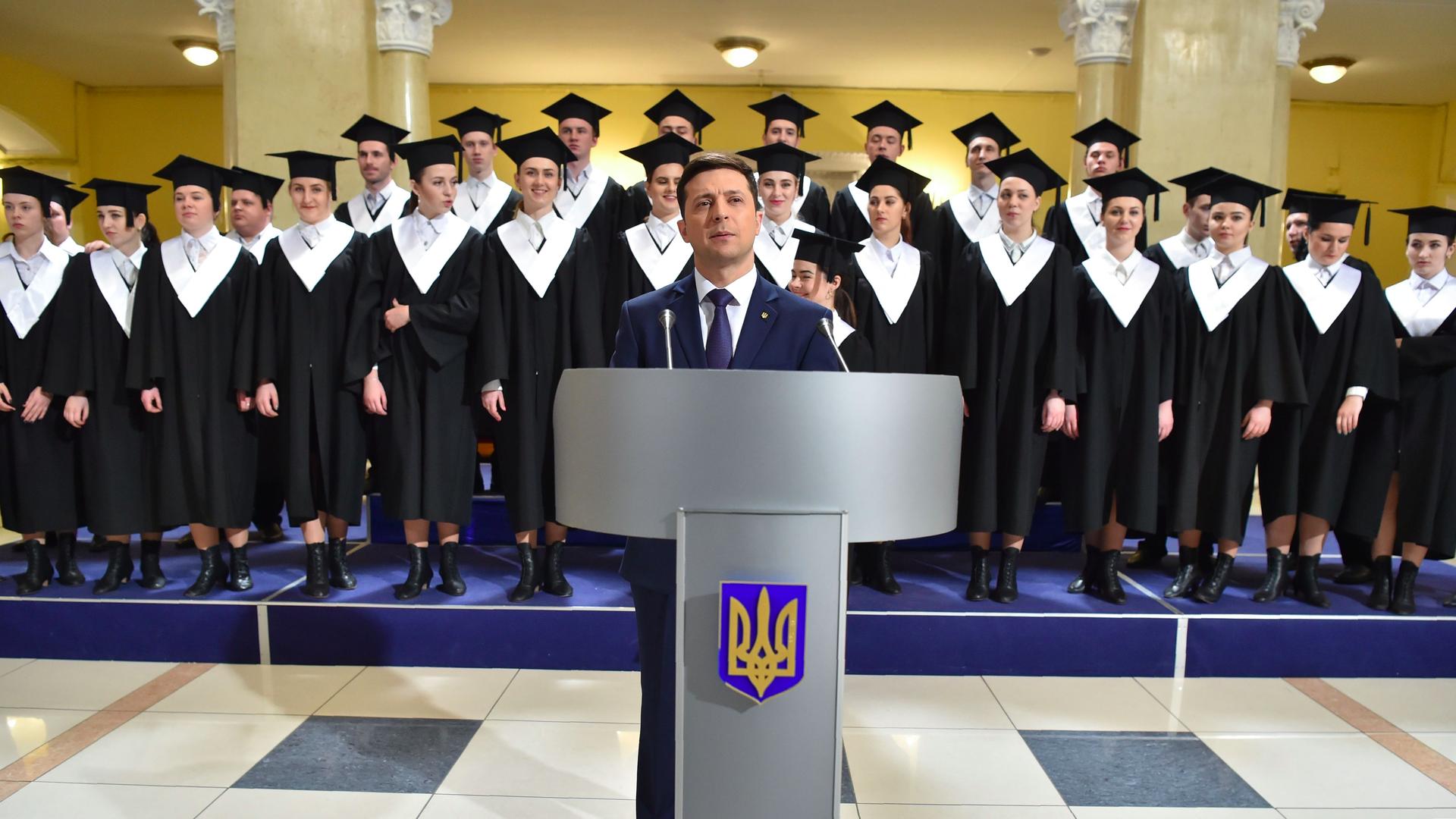 Ukrainian presidential frontrunner Volodymyr Zelensky.