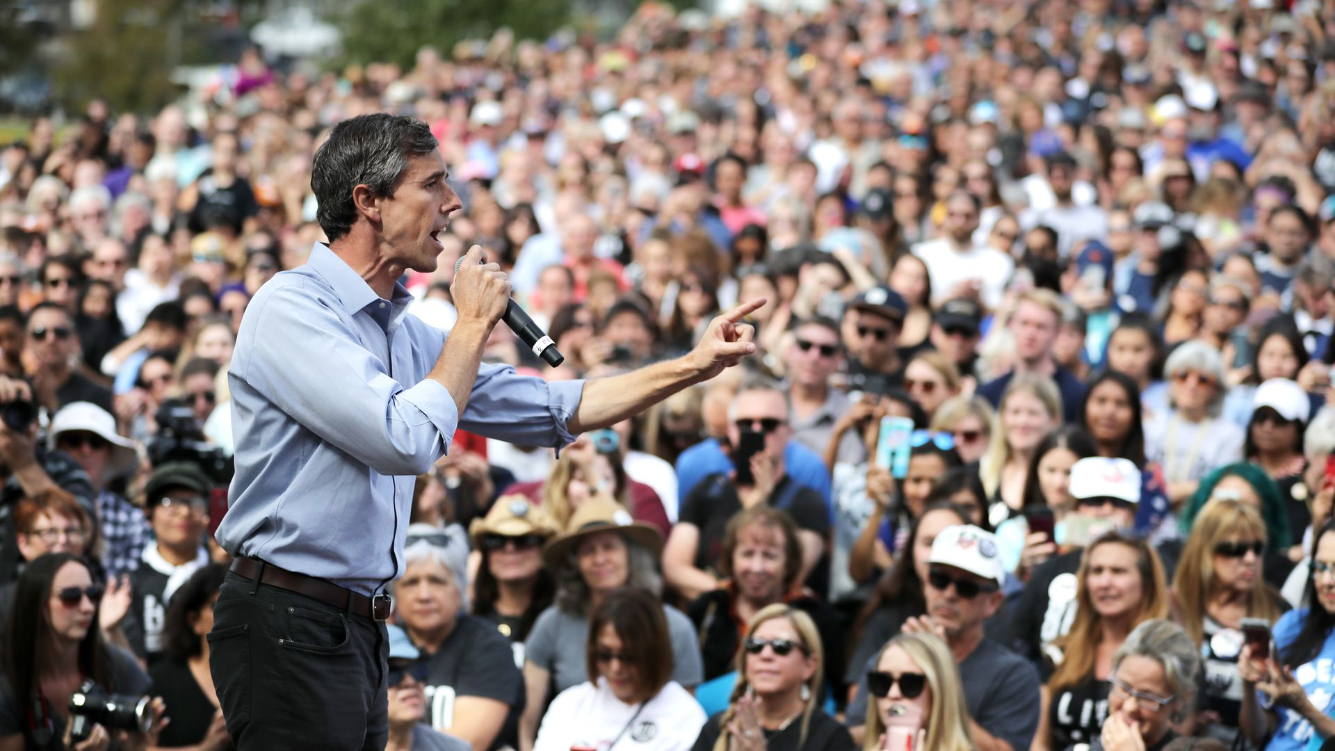 Beto O'Rourke at a rally
