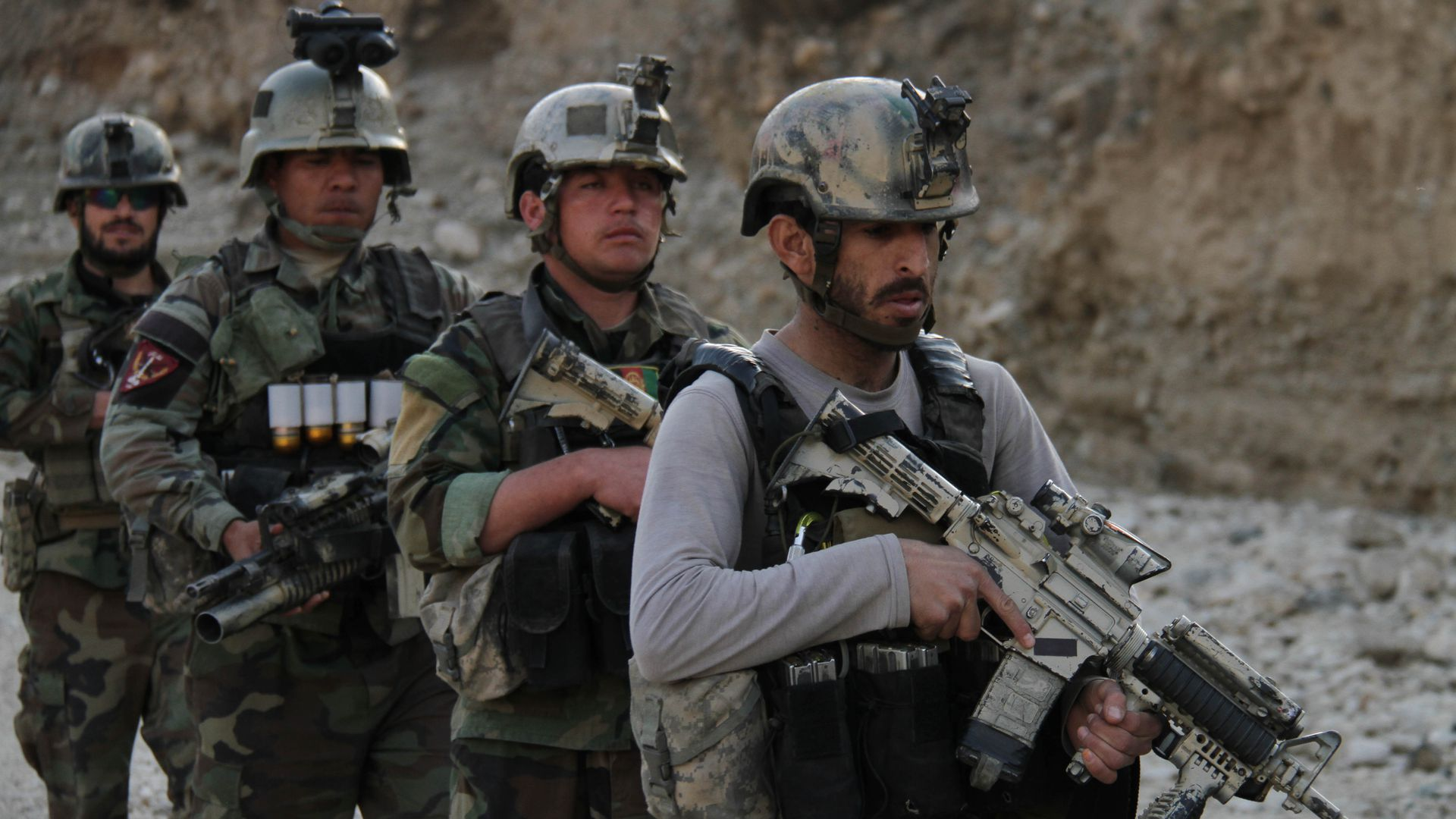 Afghan commandos forces take part in an operations against the Taliban, IS and other insurgent groups.