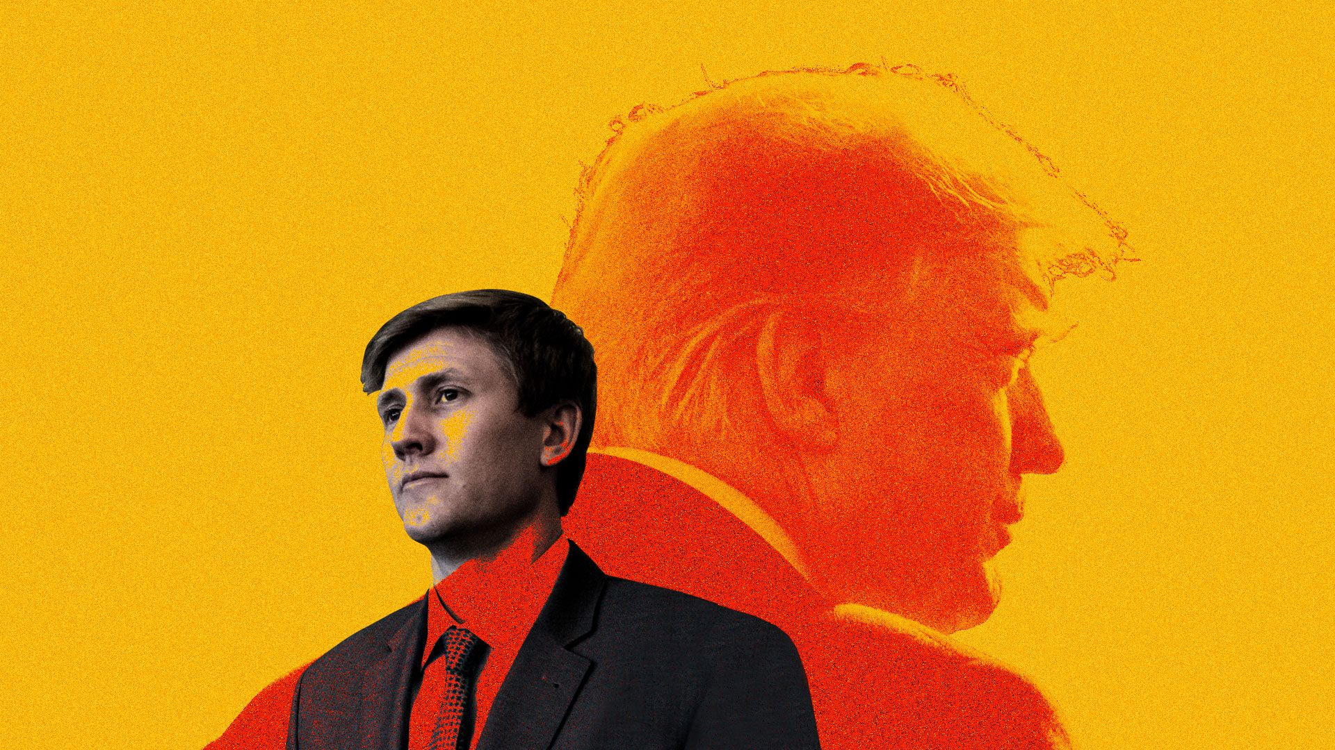 This is an illustration of Nick Ayers, Mike Pence's chief of staff