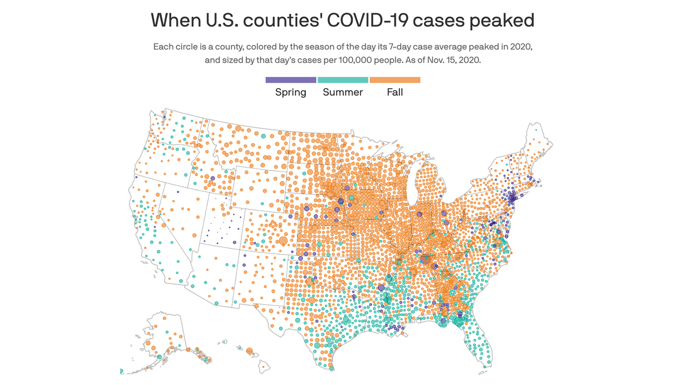 COVID cases are peaking now in most of the country thumbnail