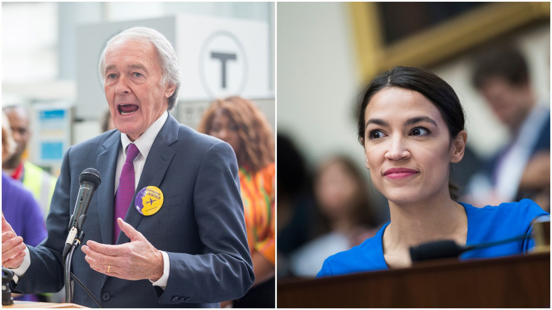Ed Markey and AOC