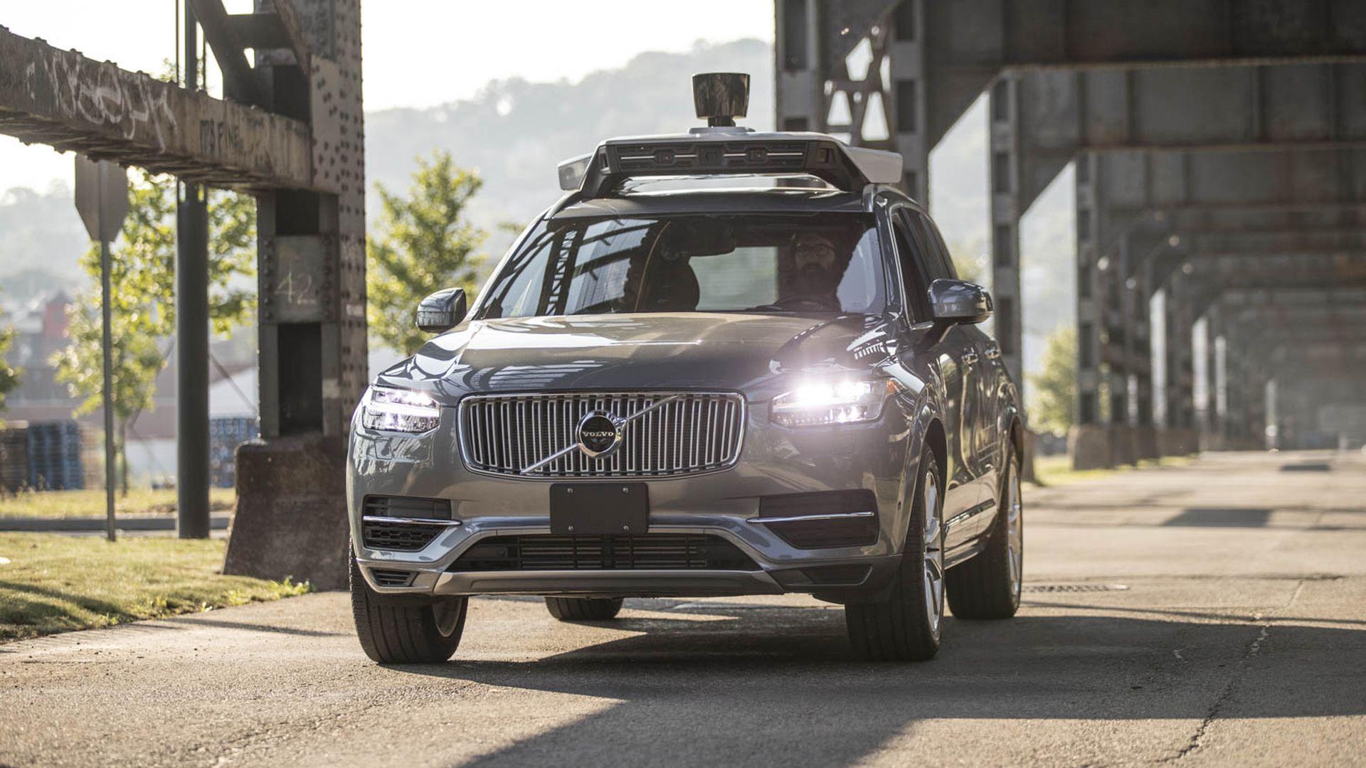 Image of Uber self-driving car