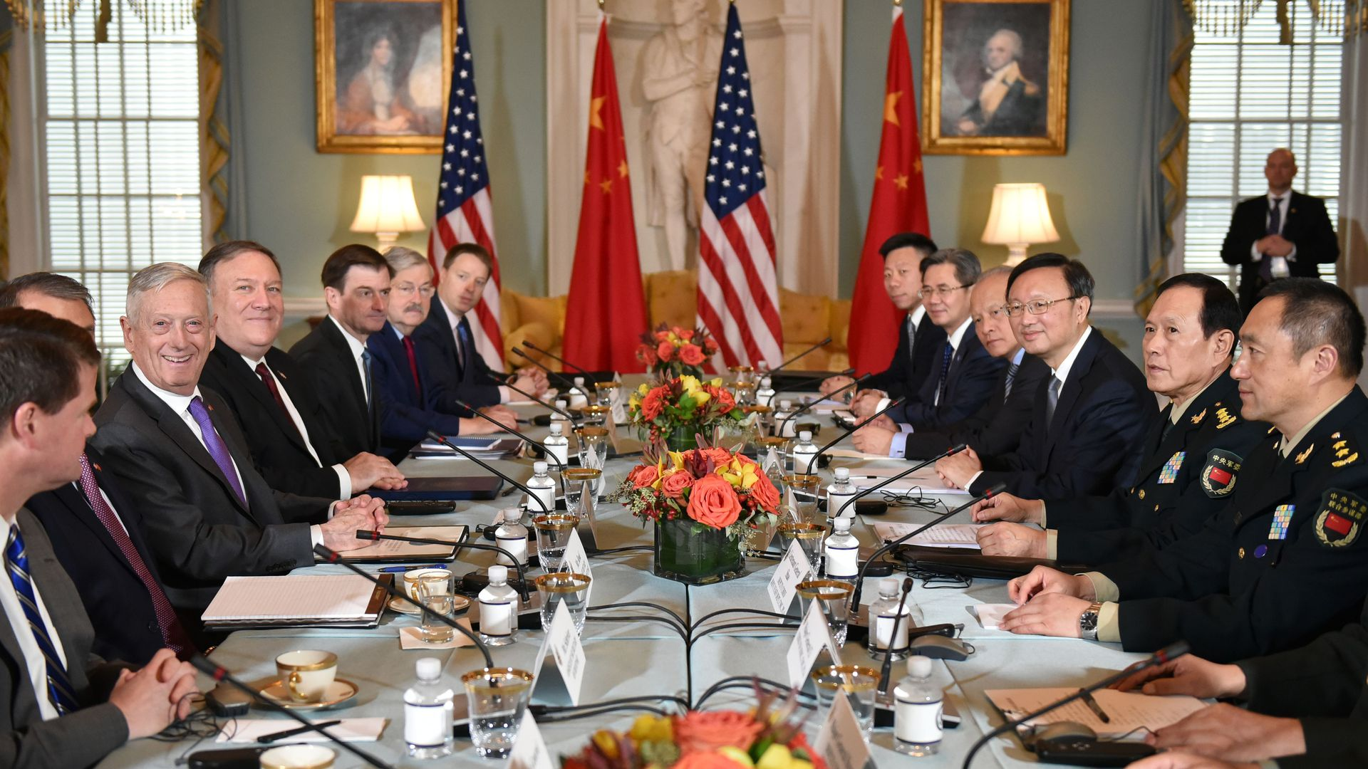 China and U.S. meeting