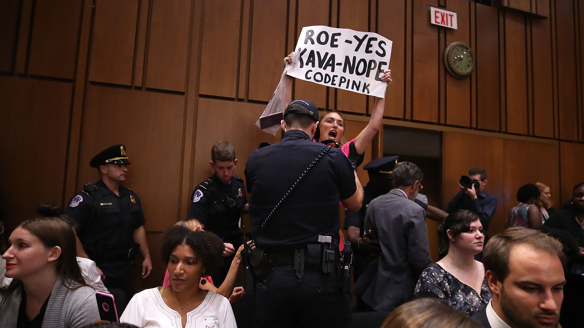 Protestor at Kavanaugh hearing