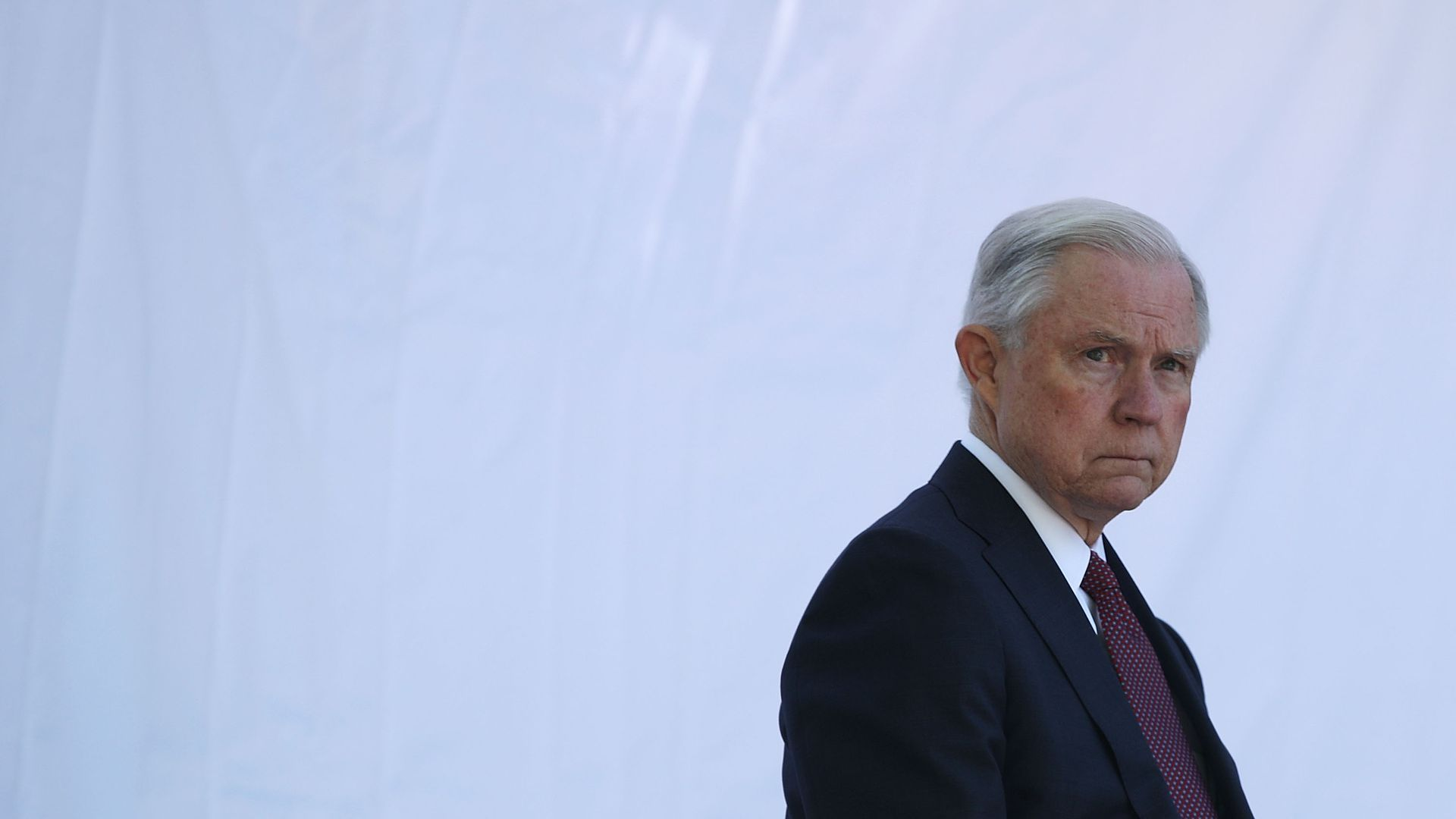 Jeff Sessions scowling