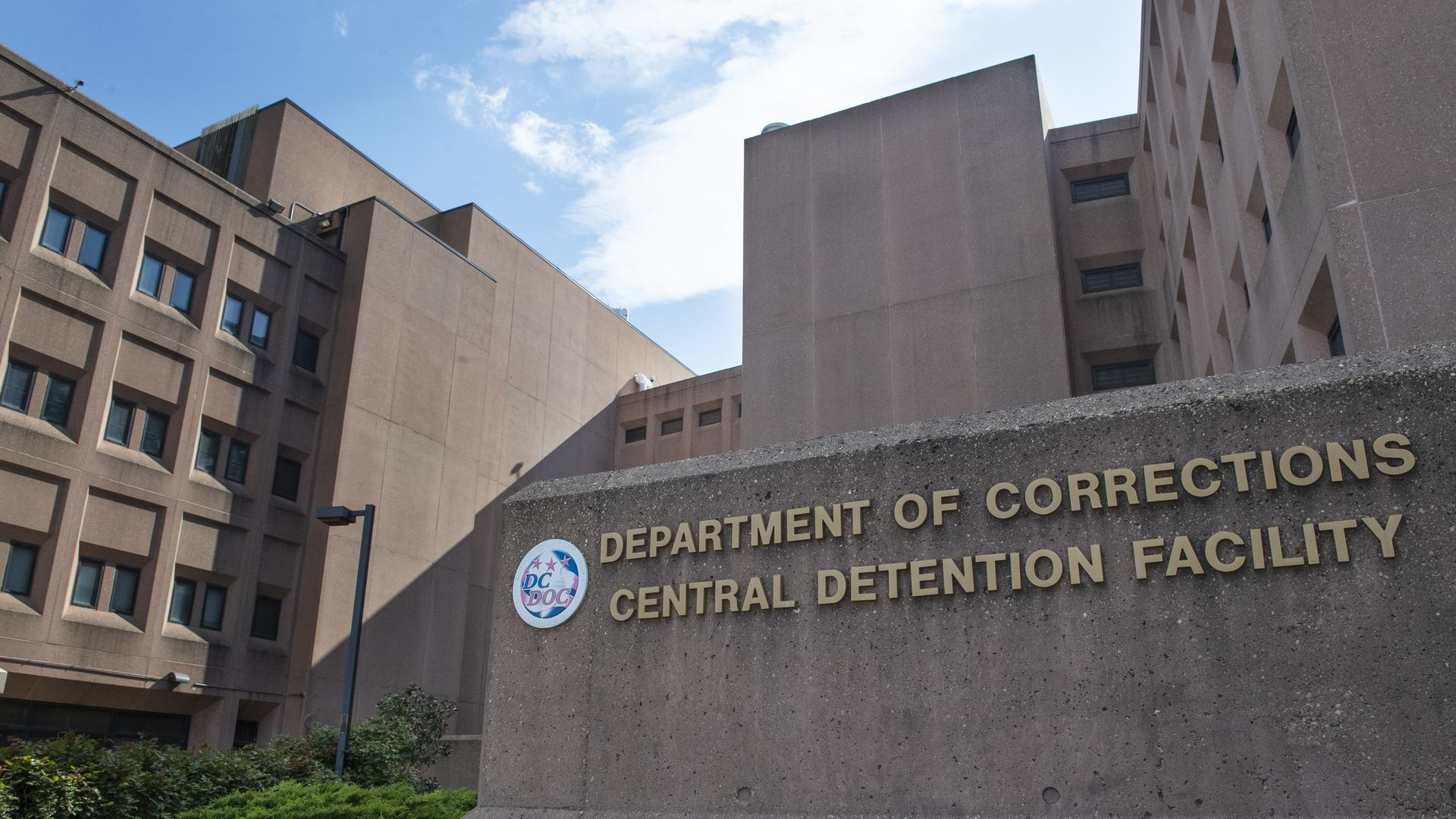 Picture of the D.C. Department of Corrections building