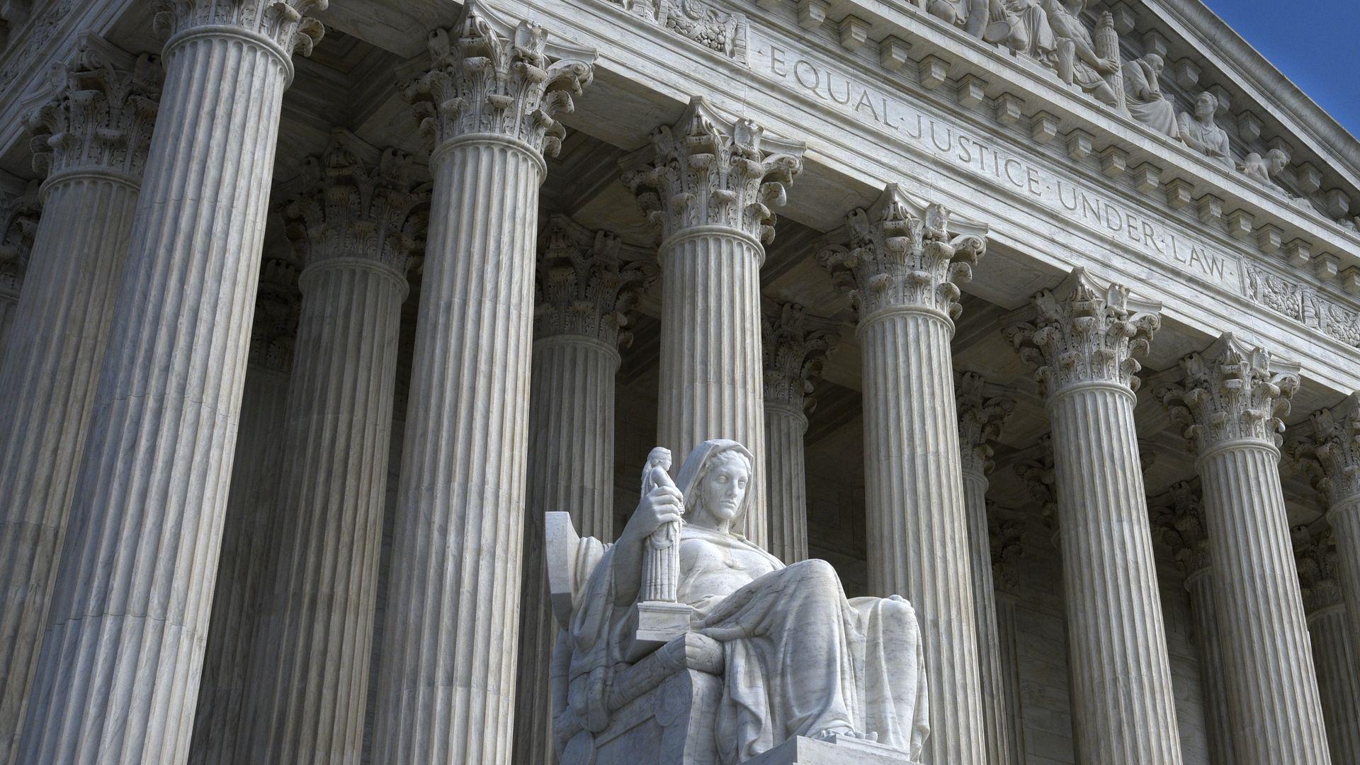 The U.S. Supreme Court Building in Washington, D.C
