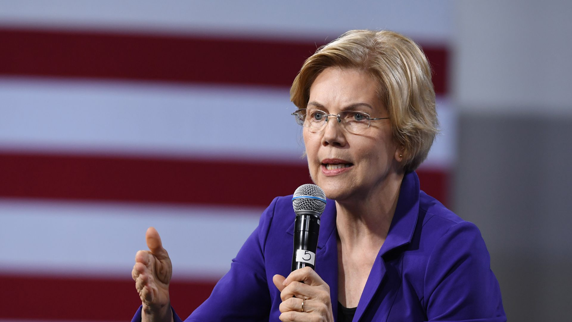 Democratic presidential hopeful Elizabeth Warren was scathing in her criticism for JPMorgan Chase.
