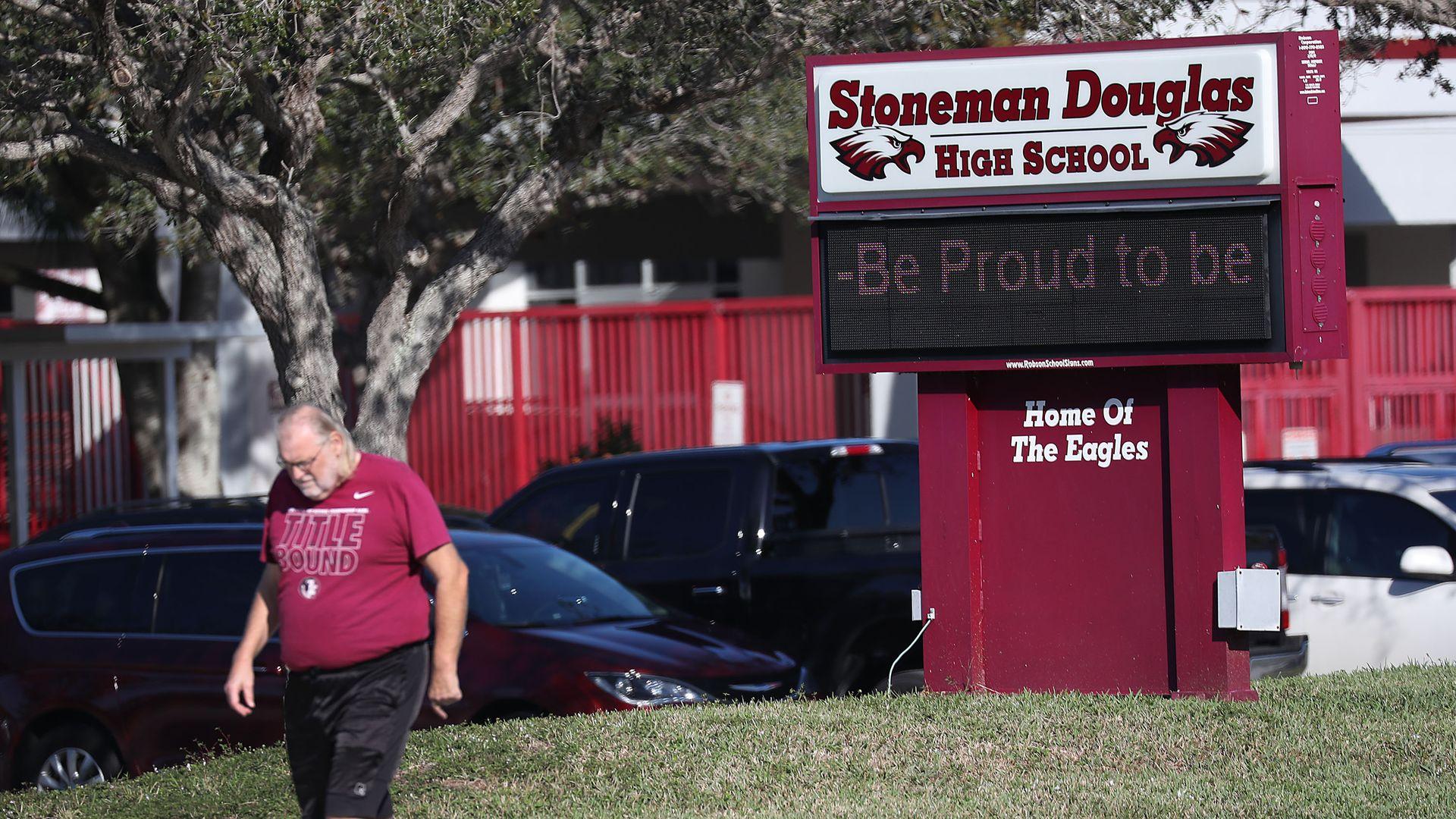 Marjory Douglas Stoneman High School in Parkland, Florida.