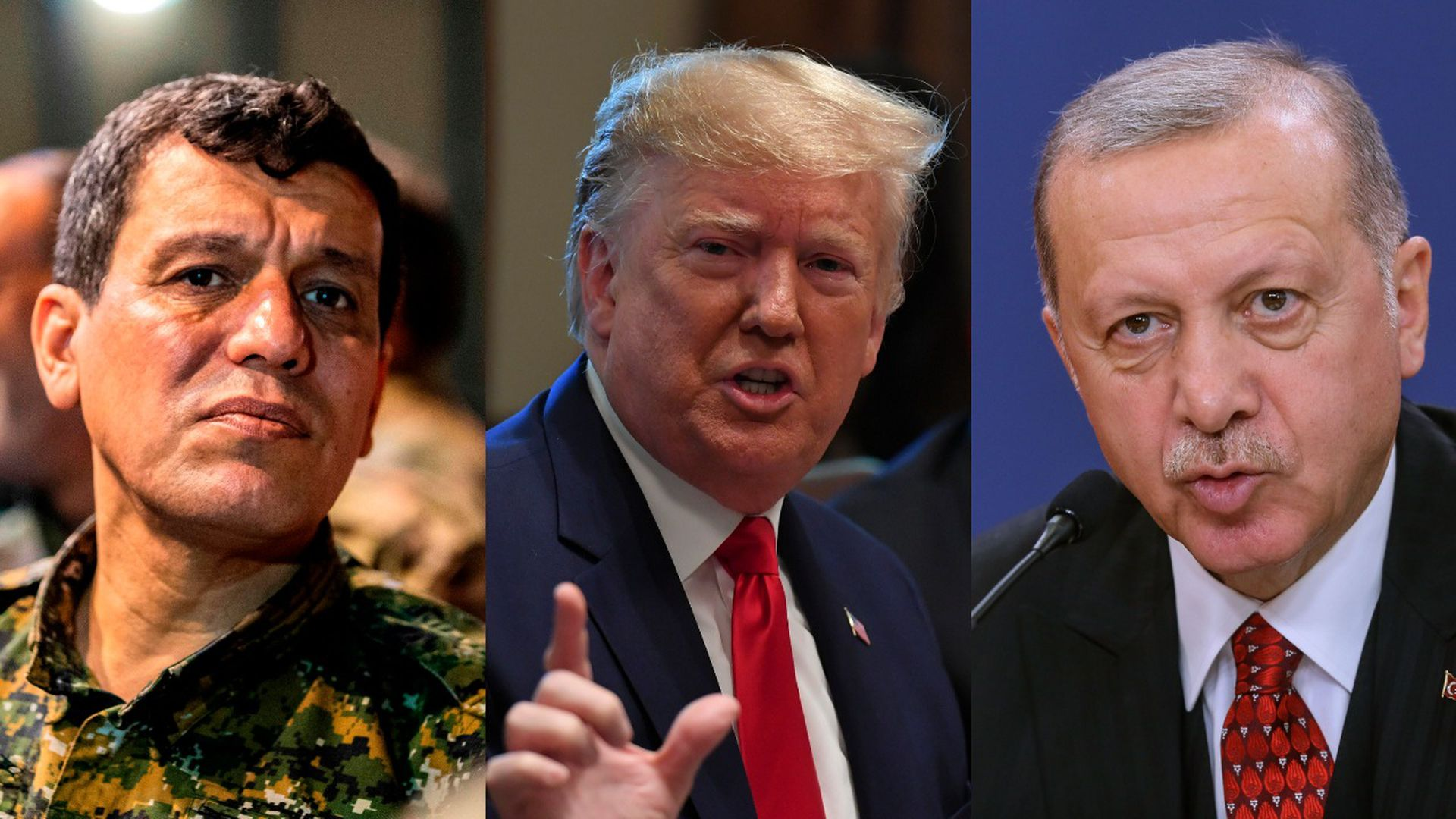 Mazloum Kobani, Trump and Erdogan