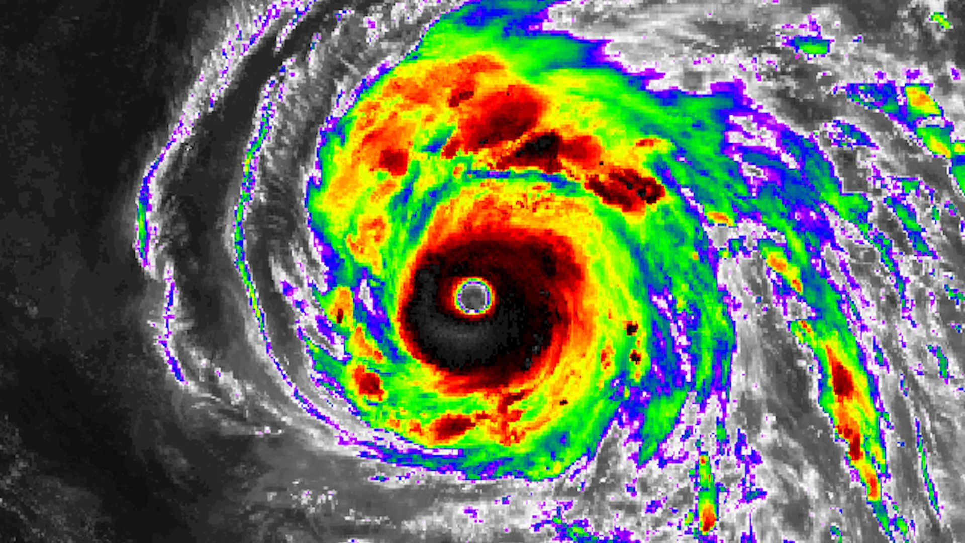 Satellite image showing Super Typhoon Maria on July 8, 2018.