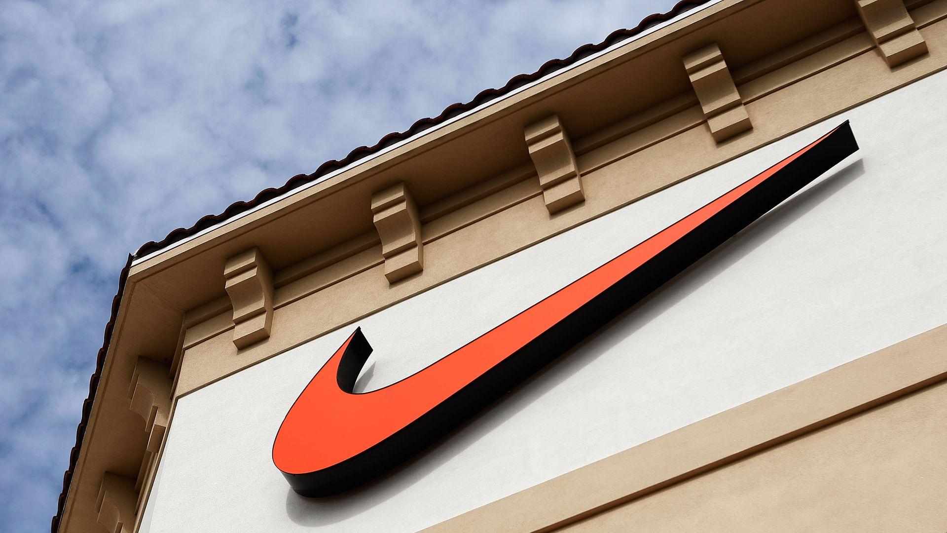 Nike swoosh.