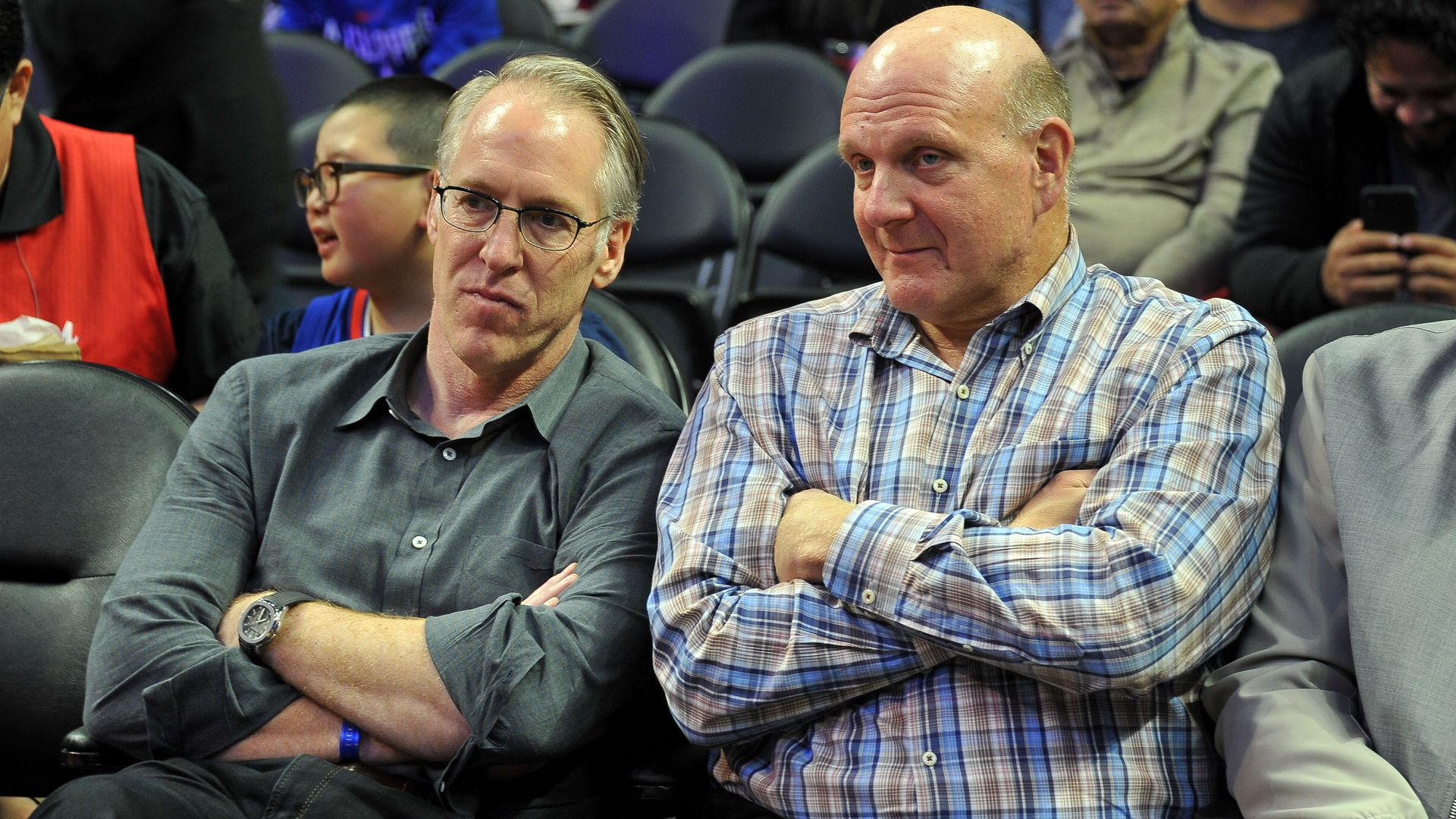 Steve Ballmer at a basketball game.