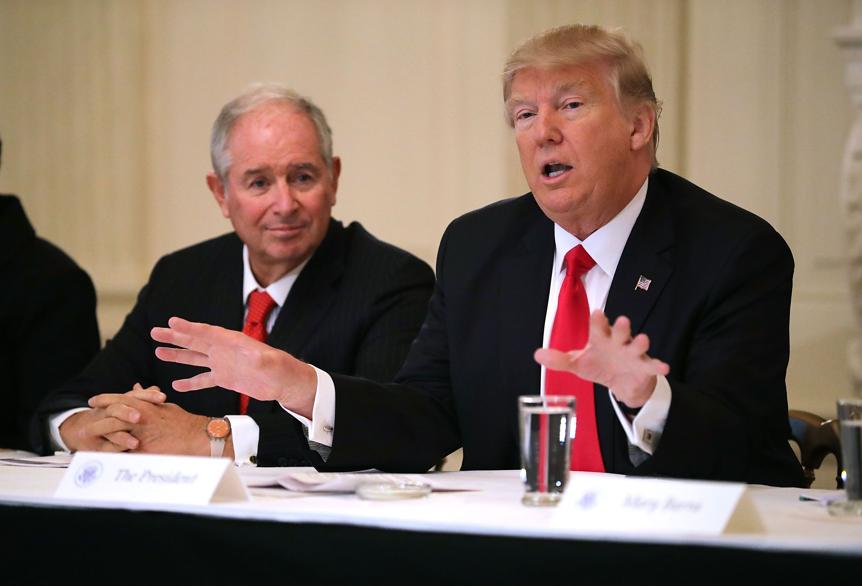 Blackstone CEO Steve Schwarzman denies Trump claim about Bidens - Axios