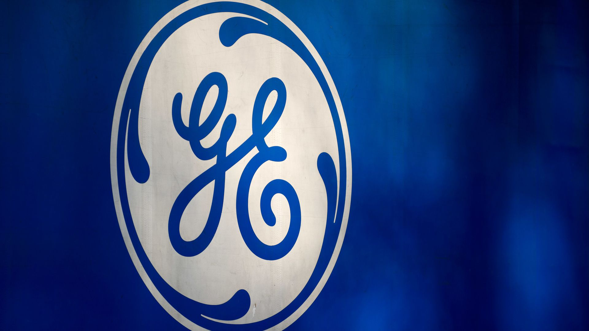 blue & white general electric logo