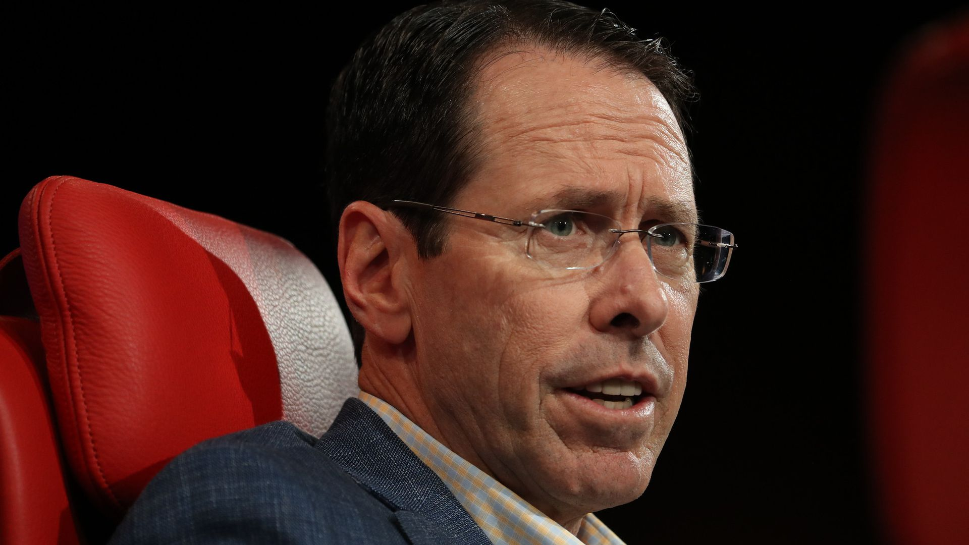 AT&T CEO Randall Stephenson face in closeup