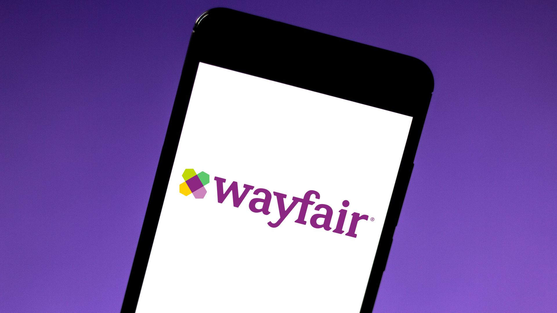 the wayfair logo on a phone