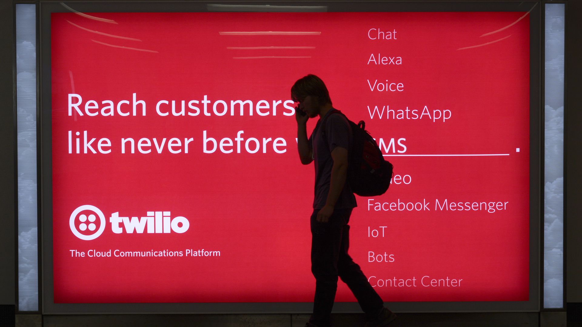 An advertisement at the San Fran airport of Twilio