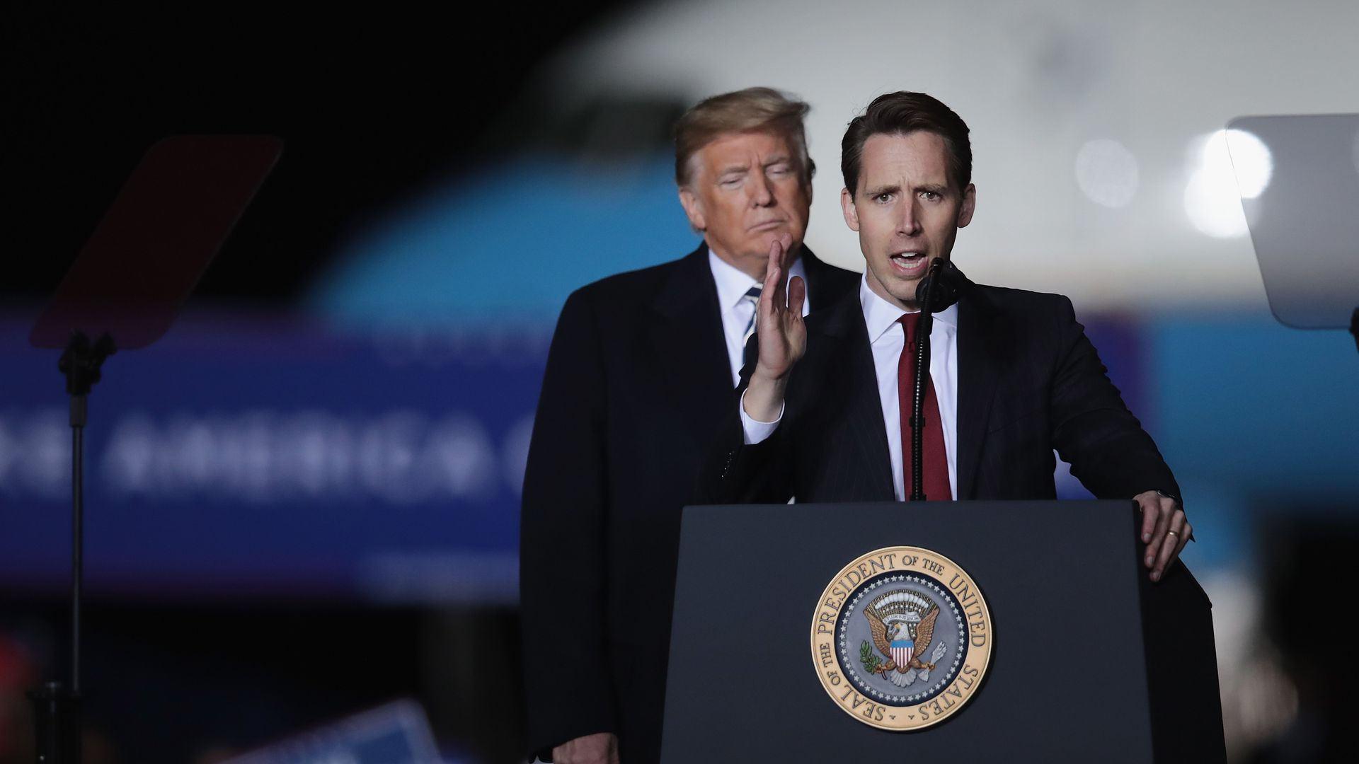 President Trump with Missouri Attorney General Josh Hawley