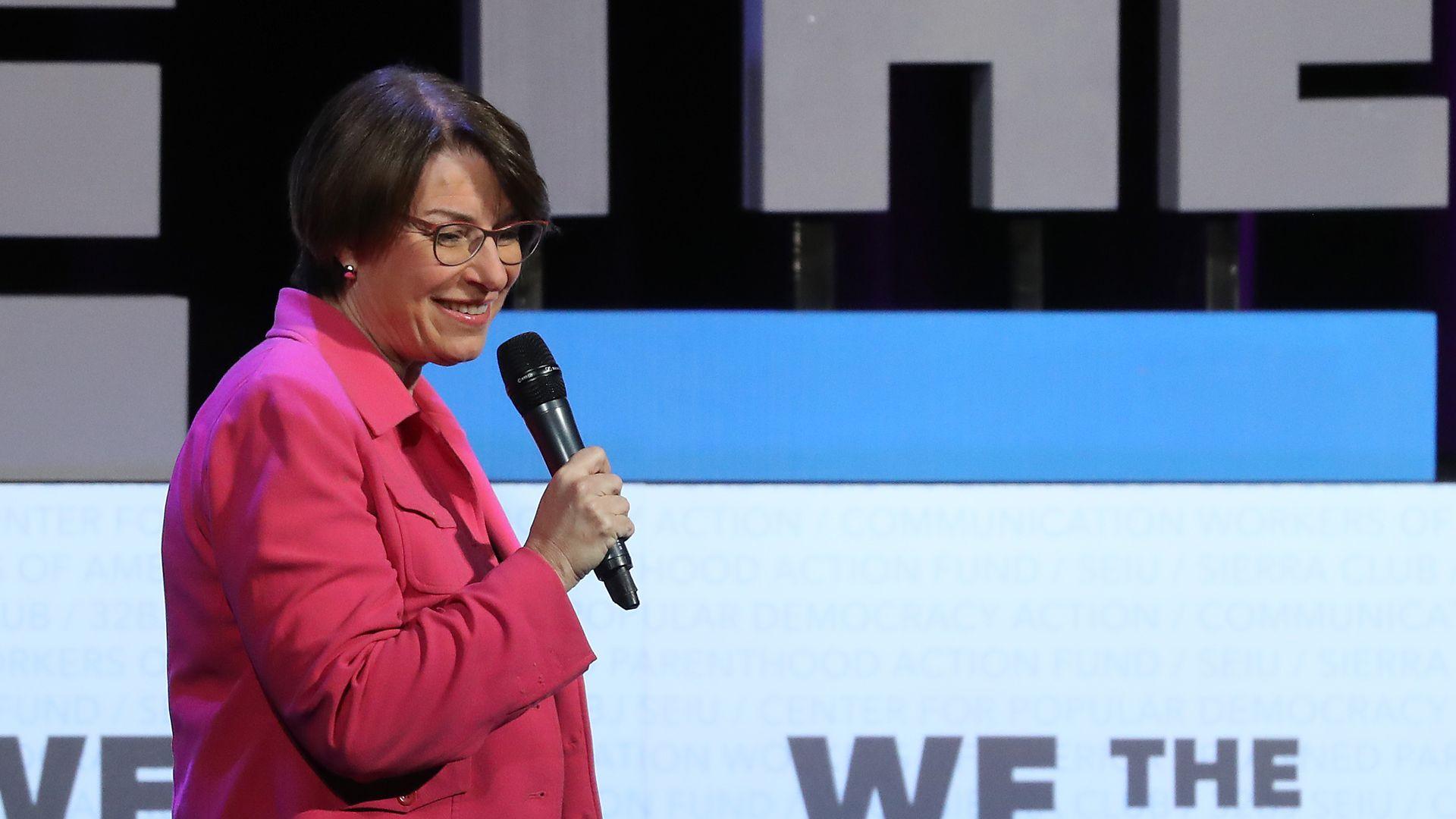 Sen.Amy Klobuchar(D-Minn.) Photo: Mark Wilson/Getty Images
