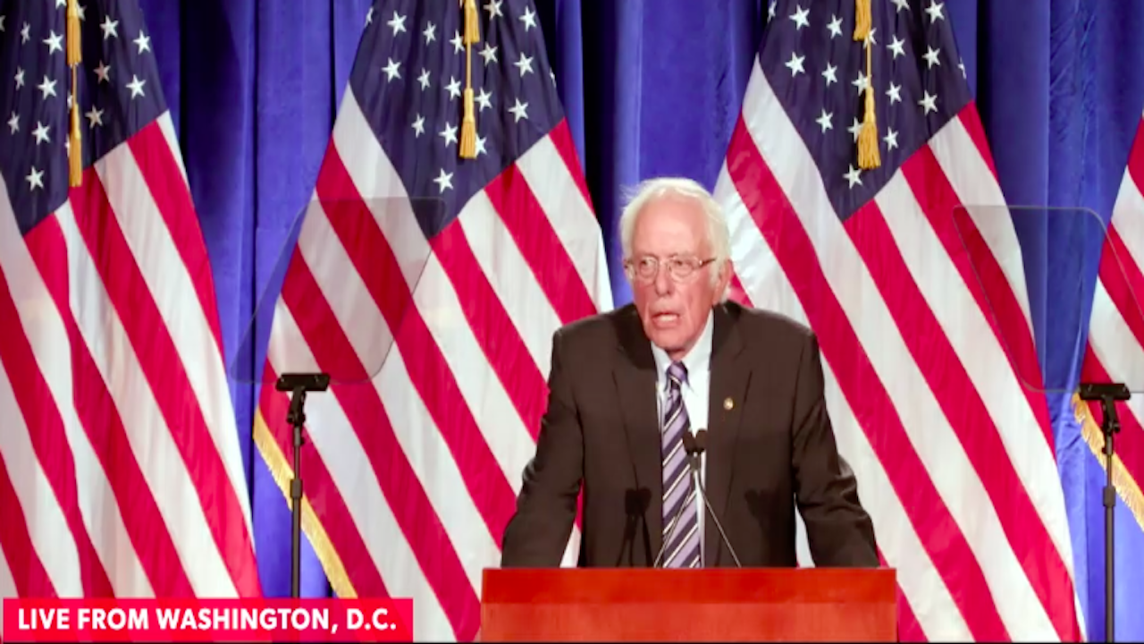 "Sanders: ""This is an election between Donald Trump and democracy"" thumbnail"
