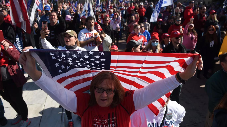 Les partisans de Trump à Washington, DC, le 14 novembre.