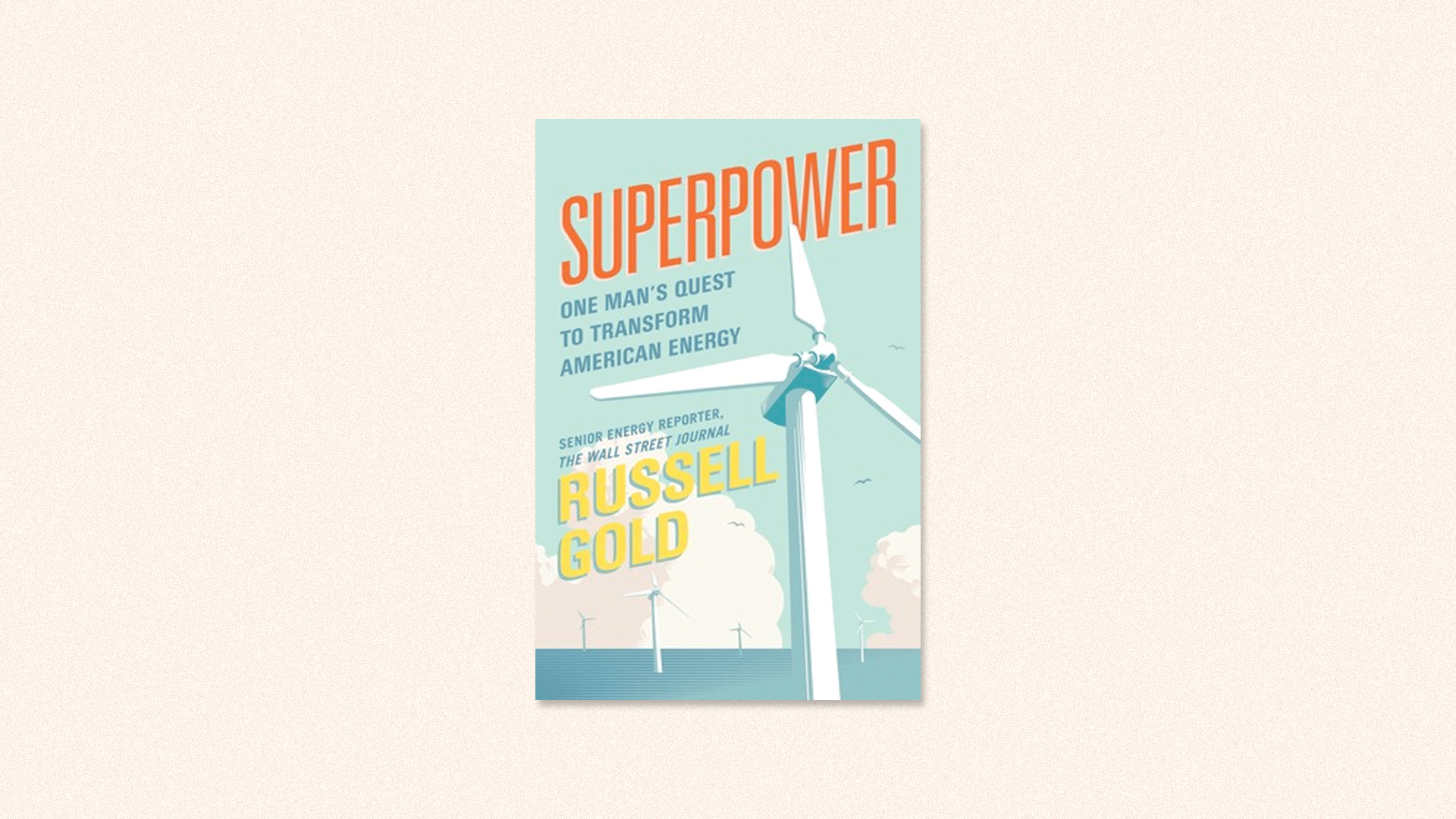 "Book cover for ""Superpower"" by Russel Gold"
