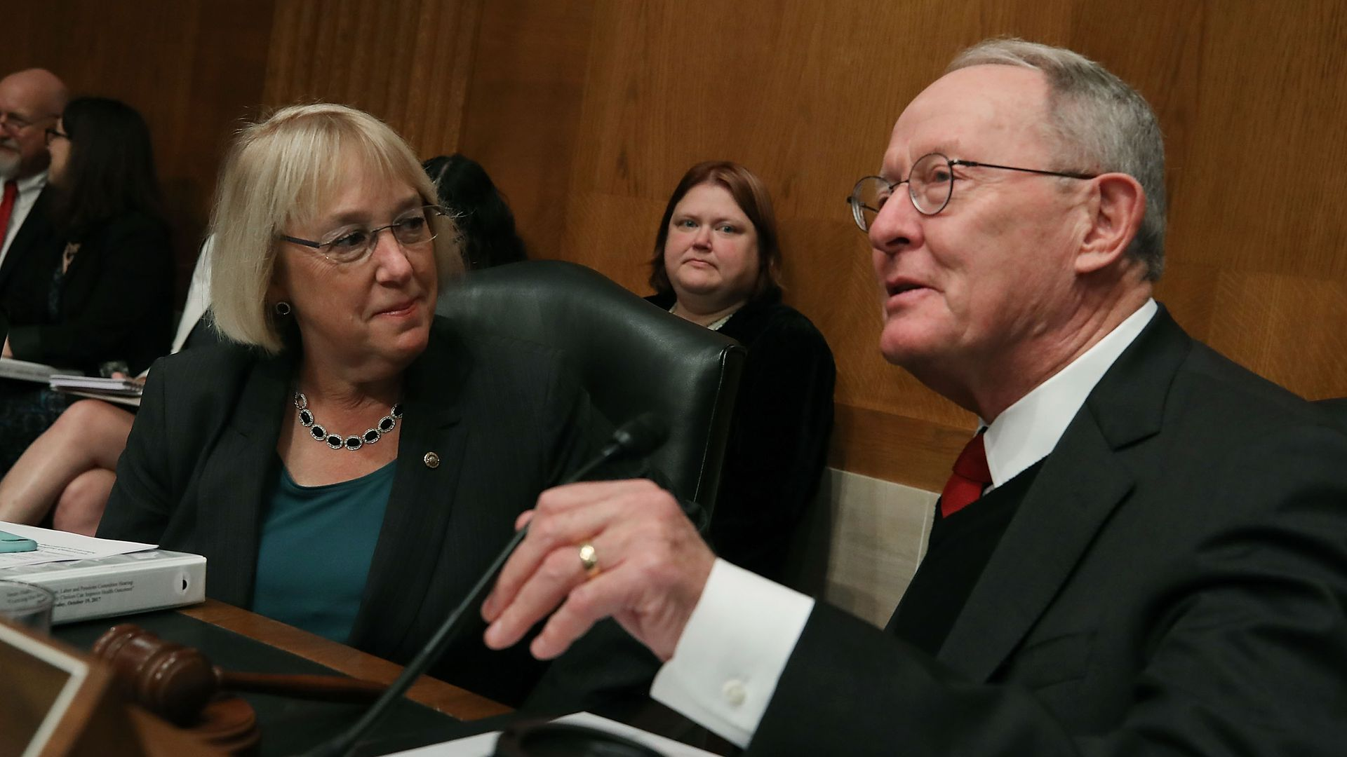 Sens. Patty Murray and Lamar Alexander.