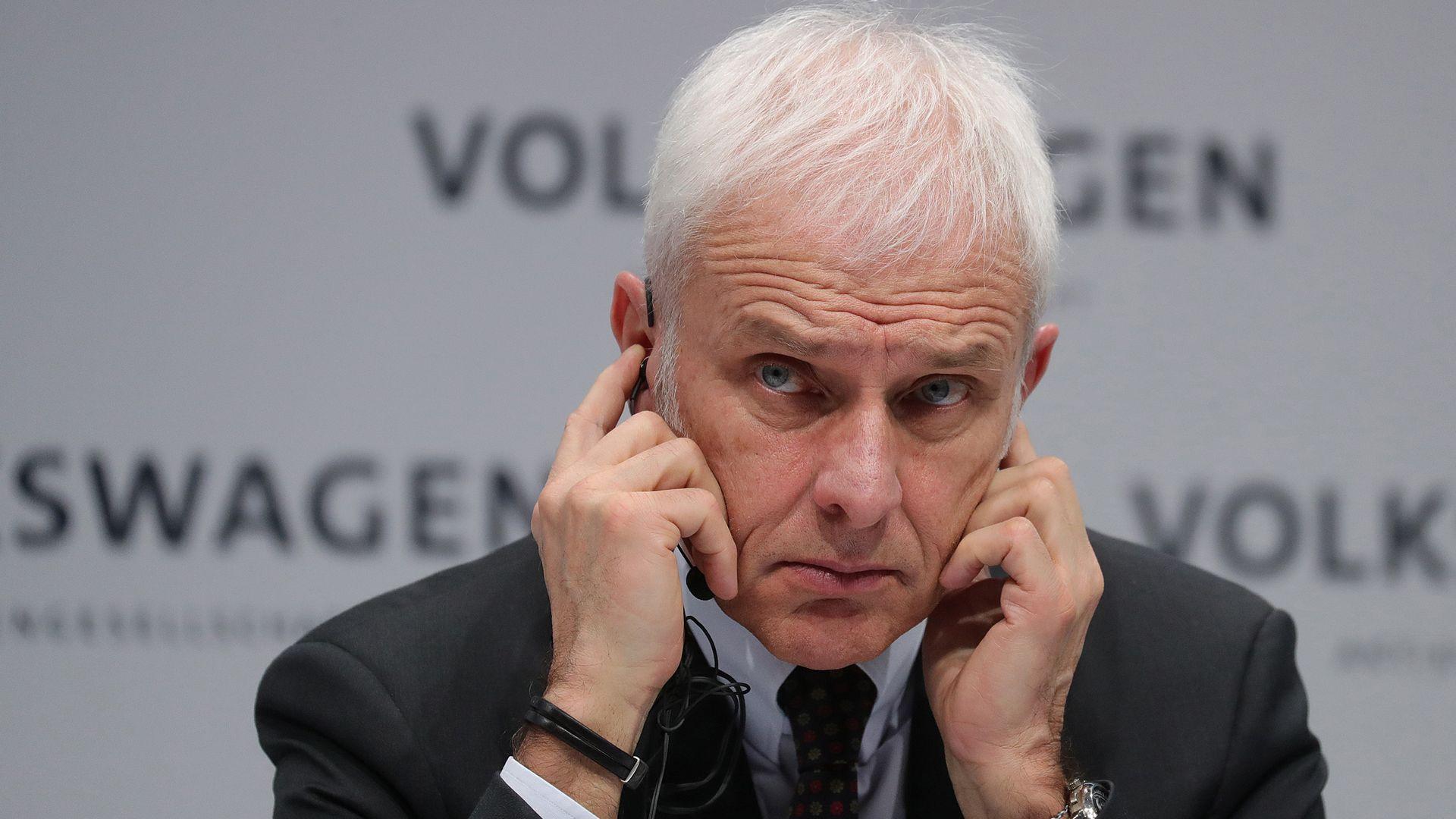 Volkswagen CEO Mattias Muller