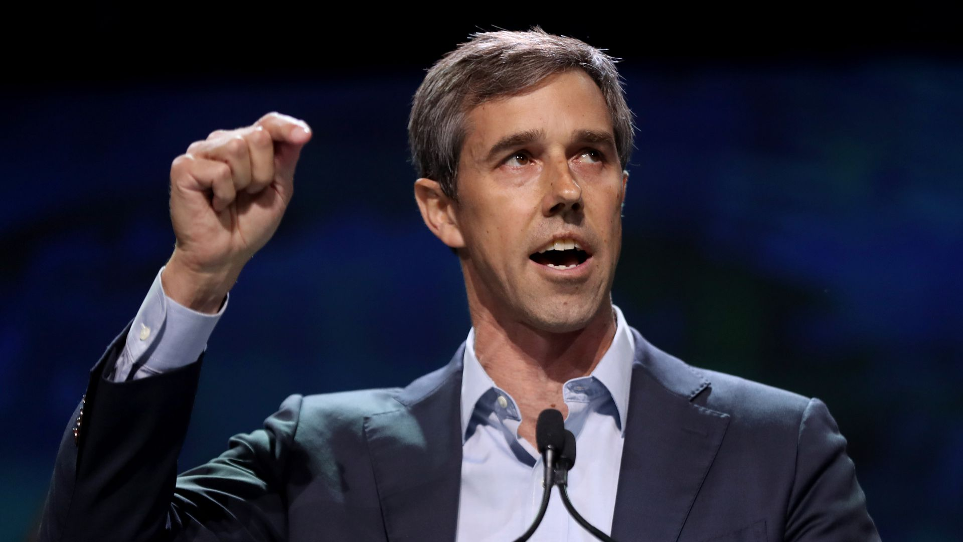 Democratic presidential candidate Beto O'Rourke speaks during Day 2 of the California Democratic Party Convention at the Moscone Convention Center in San Francisco, Calif., on Saturday, June 1, 2019.