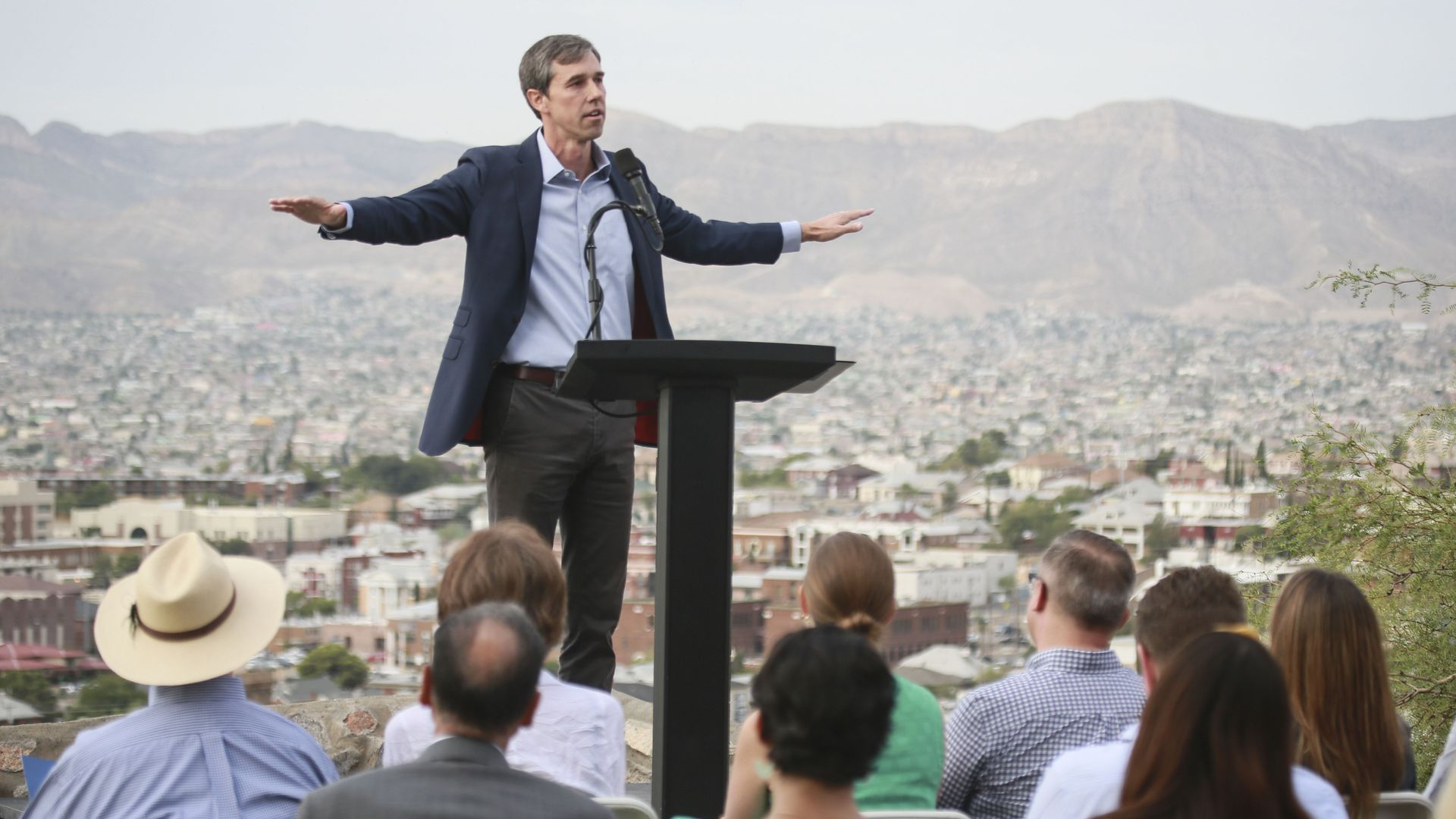 Democratic presidential candidate, former Rep. Beto O'Rourke (D-TX) speaks to media and supporters during a campaign re-launch on August 15, 2019 in El Paso, Texas.