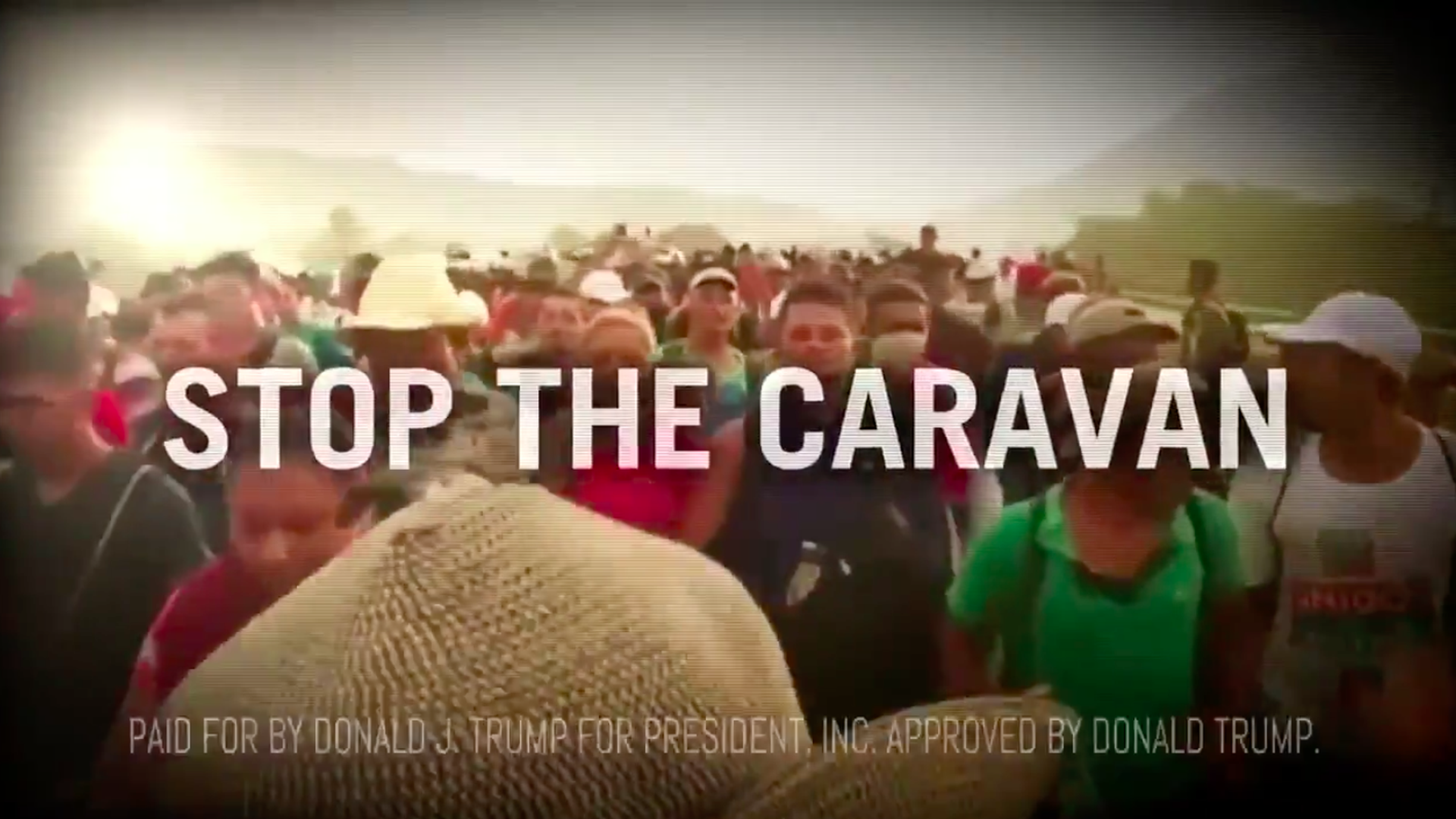 Screenshot of Trump anti-immigration ad