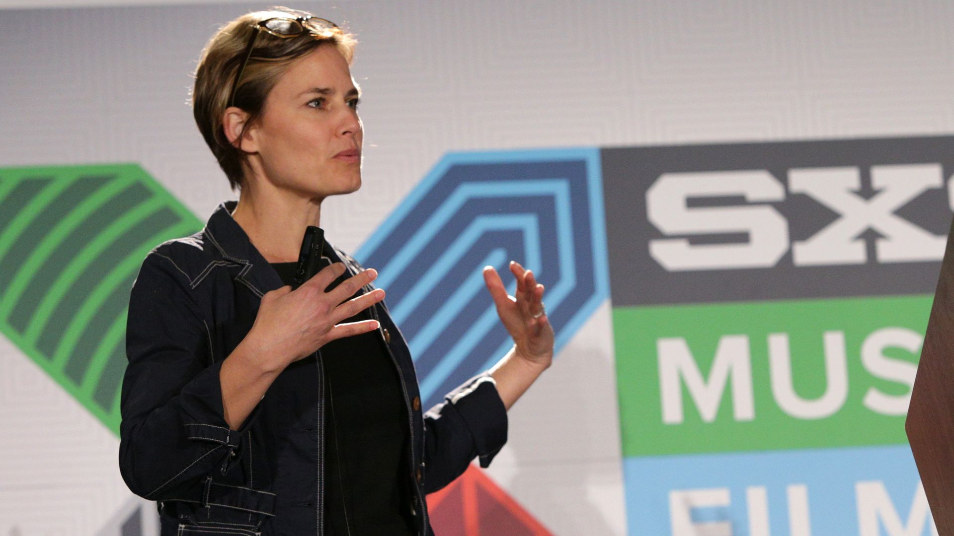 Code for America founder Jennifer Pahlka, speaking at SXSW