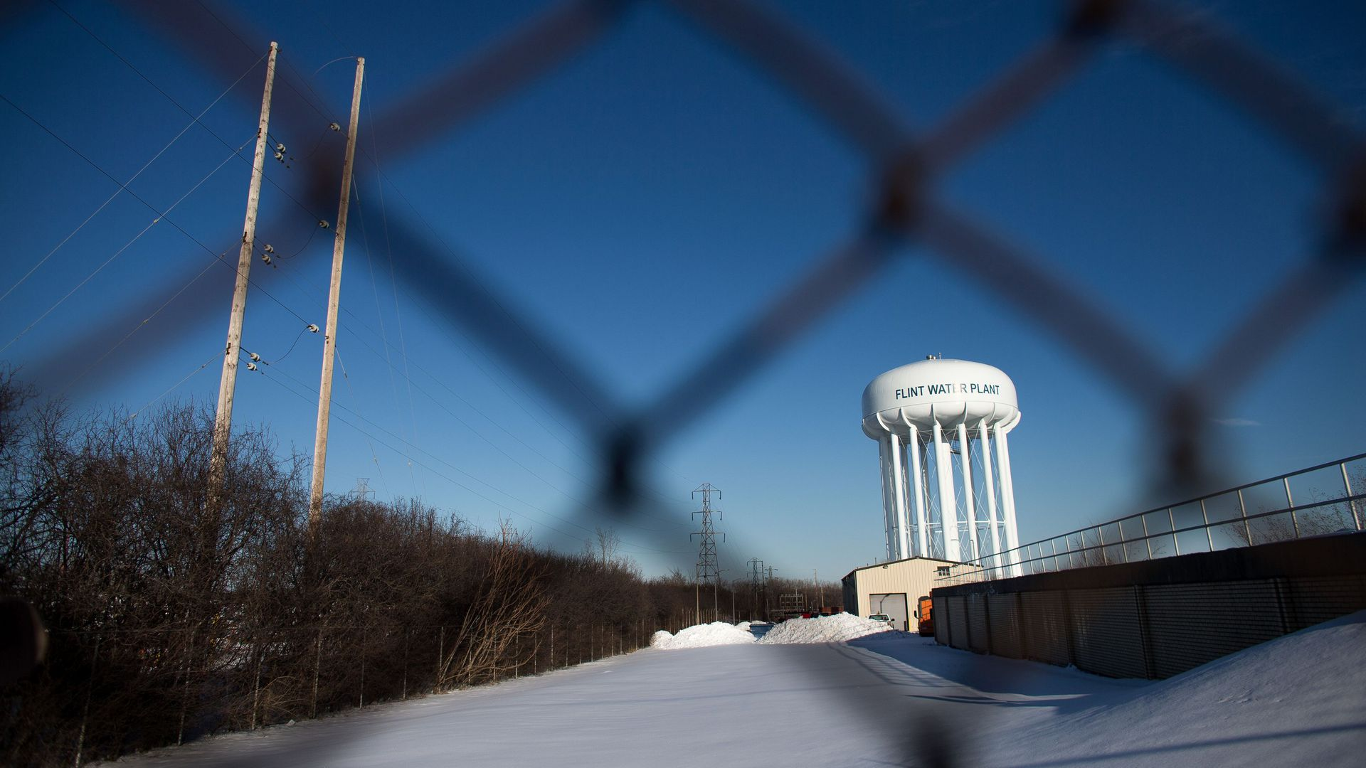Water tower in Flint, Michigan