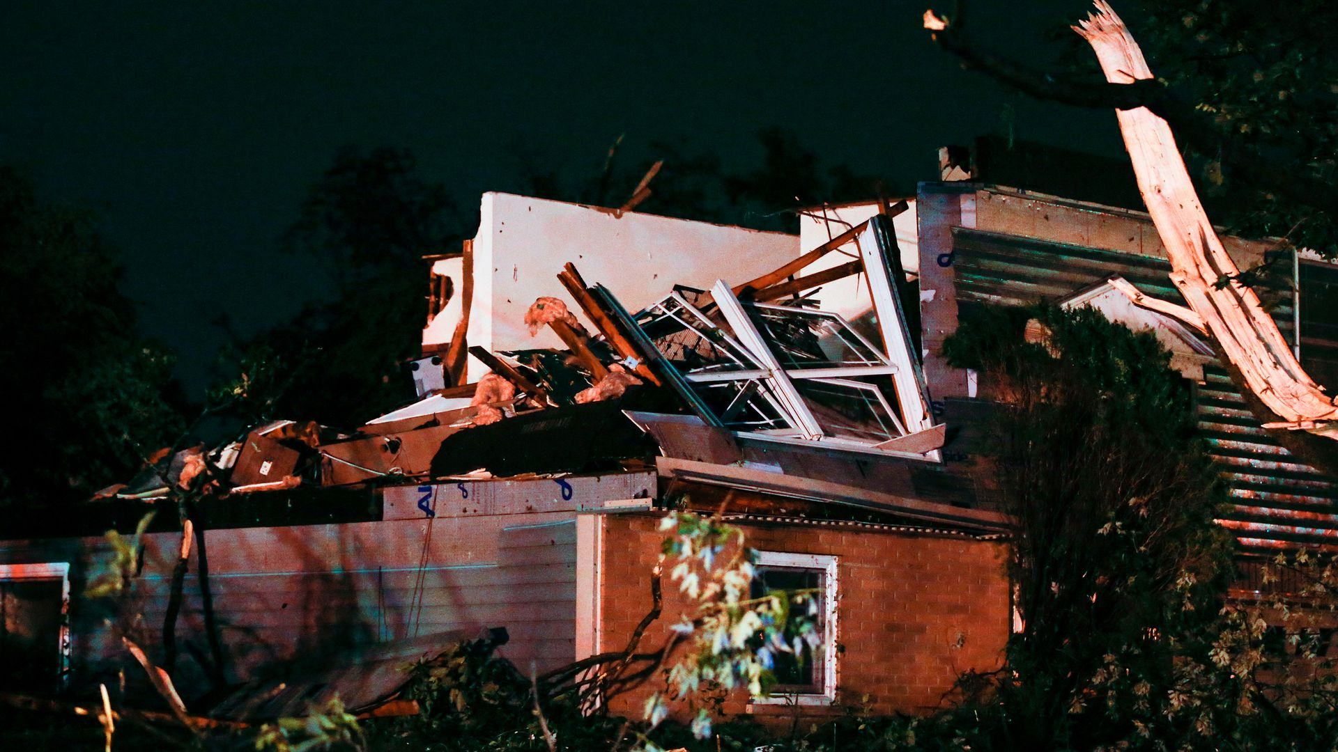 A house on the 2700 block of Jonquil Lane suffered severe damage on June 21, 2021 after a tornado came through the area in Woodridge, Illinois.
